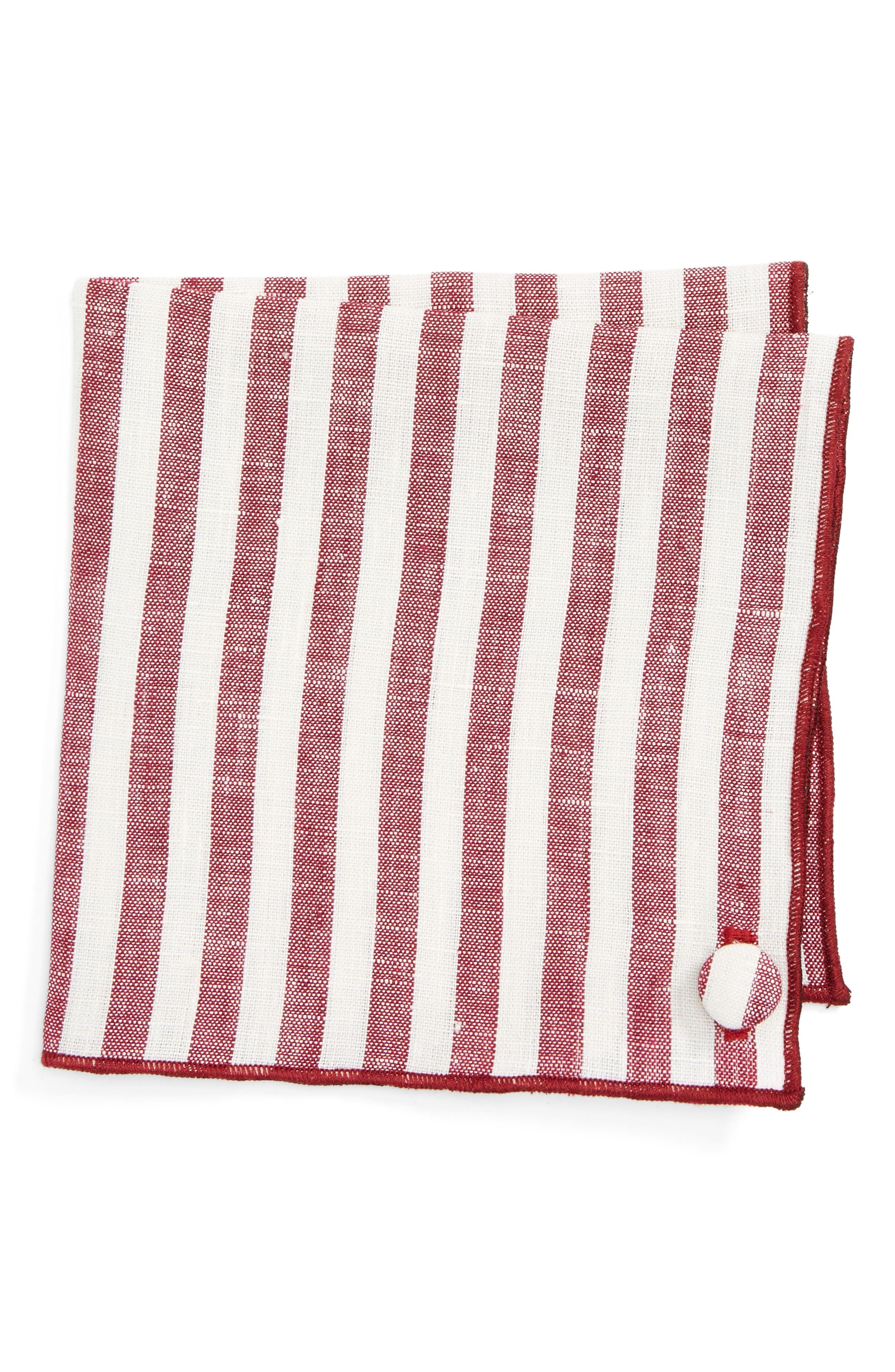 Armstrong & Wilson Stripe Linen Pocket Square