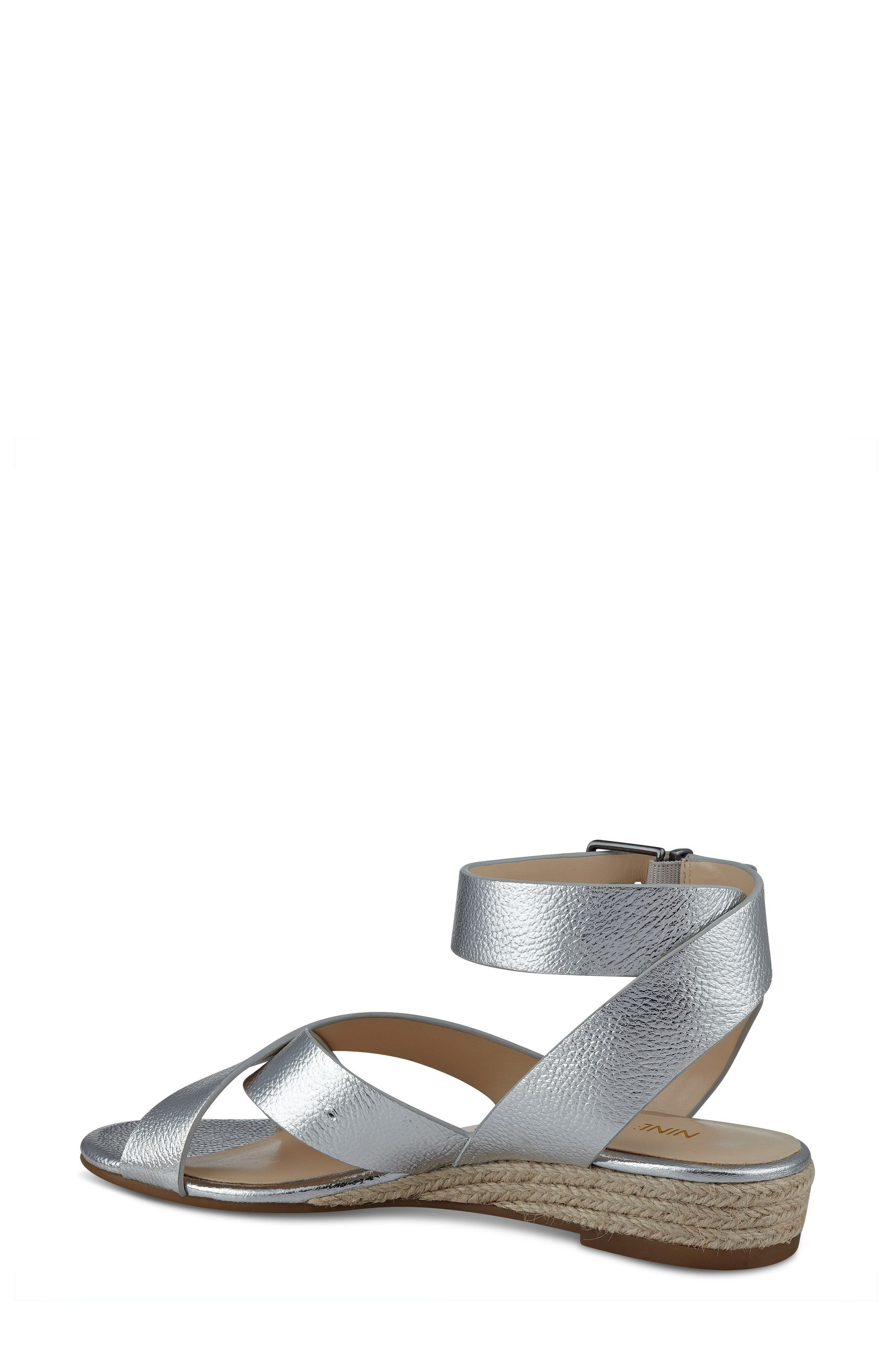 Alternate Image 2  - Nine West Mossa Cross Strap Wedge Sandal (Women)