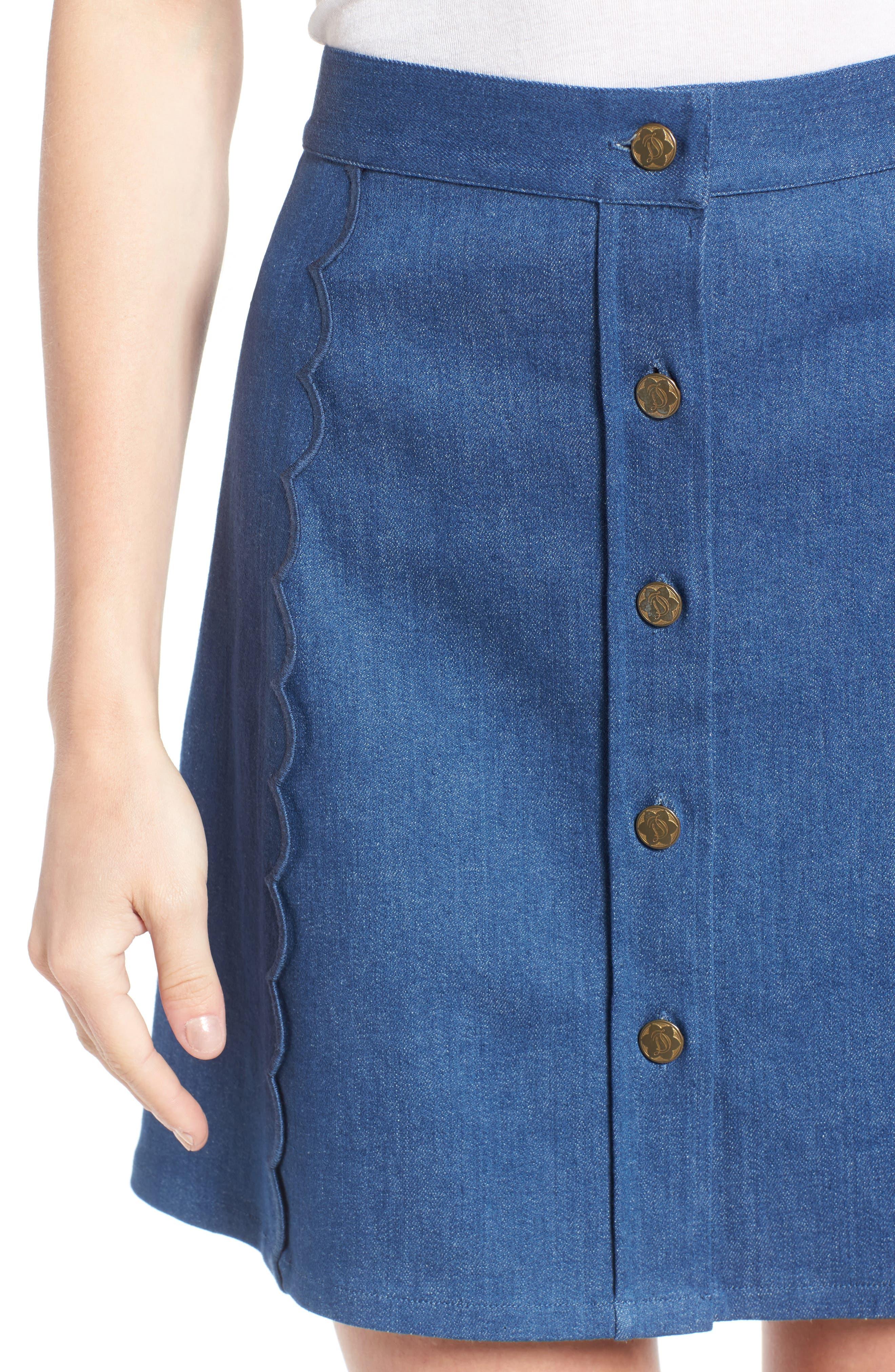Alternate Image 4  - Draper James Stretch Denim Miniskirt (Nordstrom Exclusive)