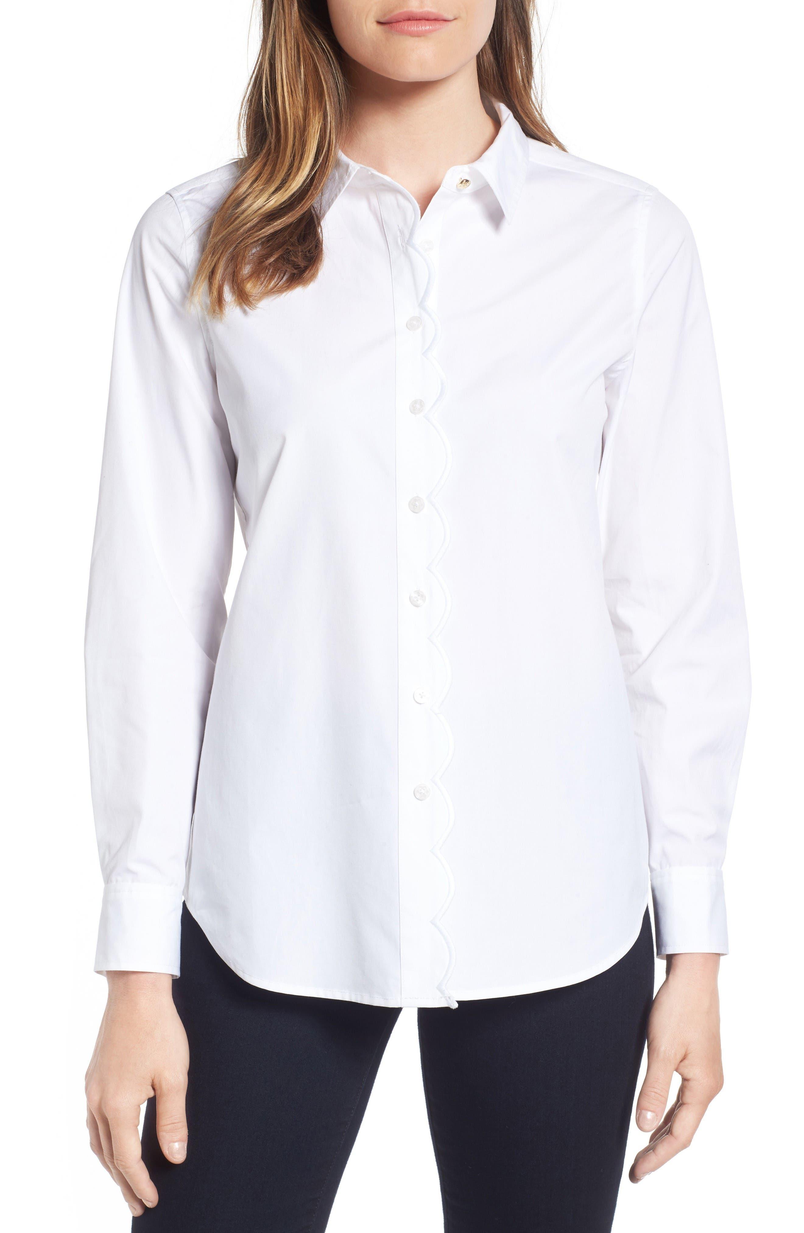 Draper James Elliot Cotton Shirt (Nordstrom Exclusive)