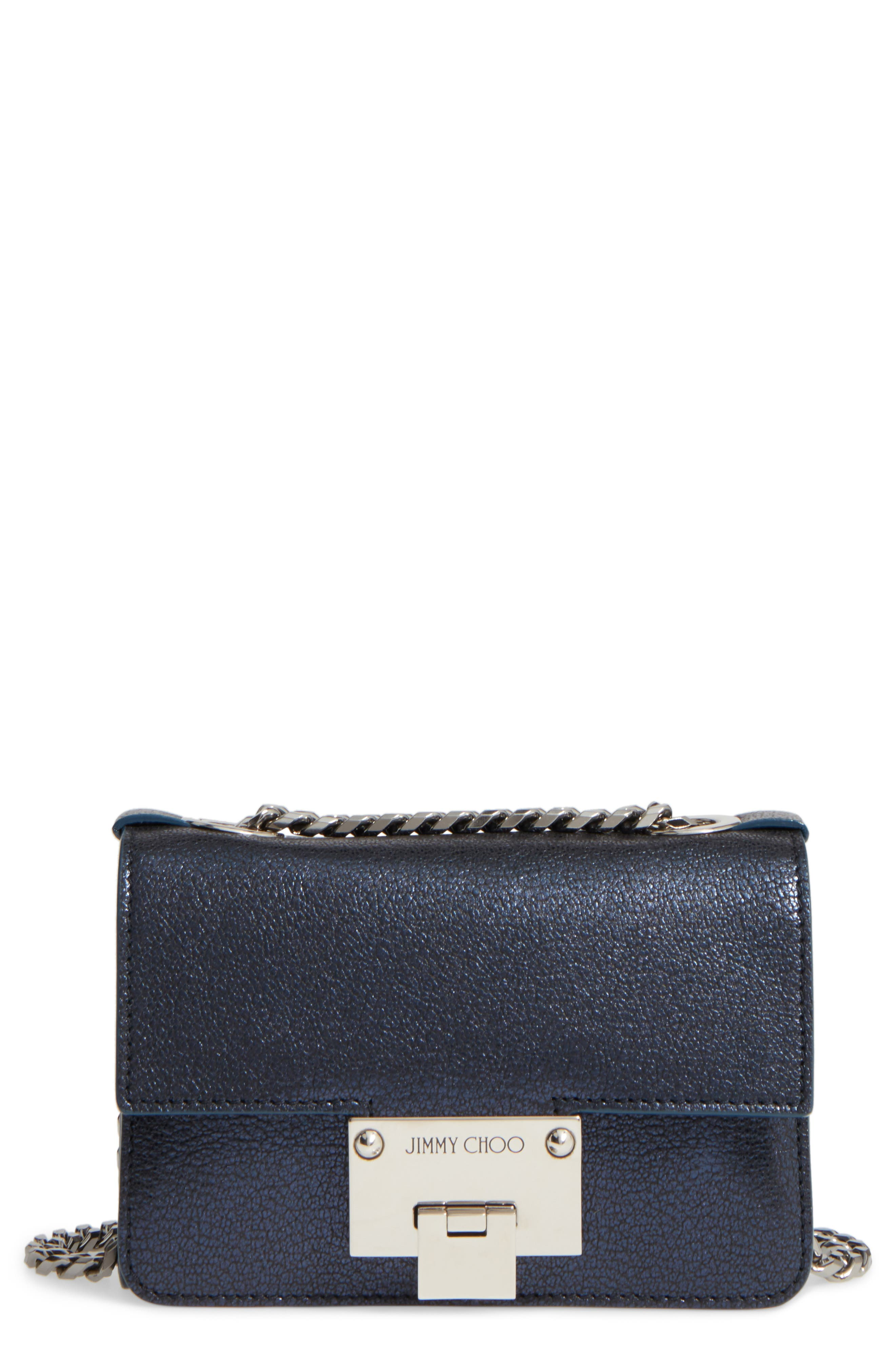 Jimmy Choo Mini Rebel Metallic Leather Crossbody Bag