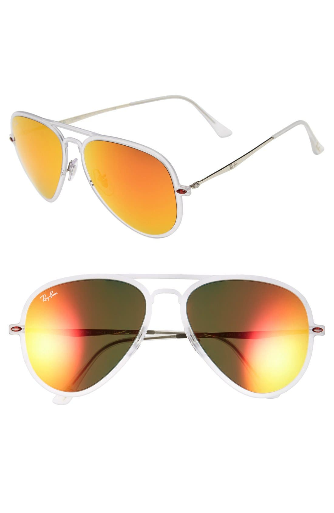 Alternate Image 1 Selected - Ray-Ban 'TECH Light-Ray' 56mm Aviator Sunglasses