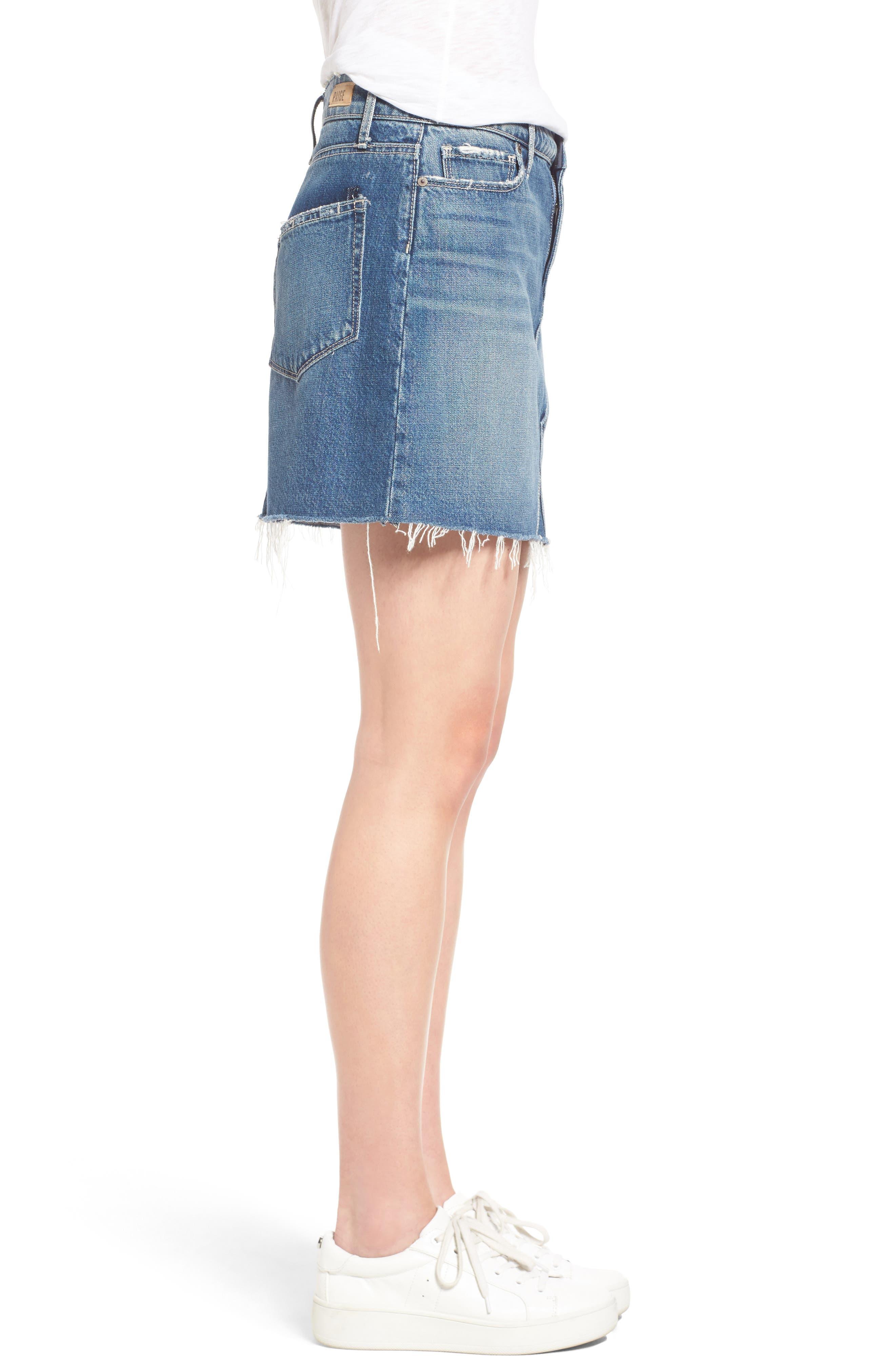 Alternate Image 4  - PAIGE Alethea Cutoff Denim Miniskirt
