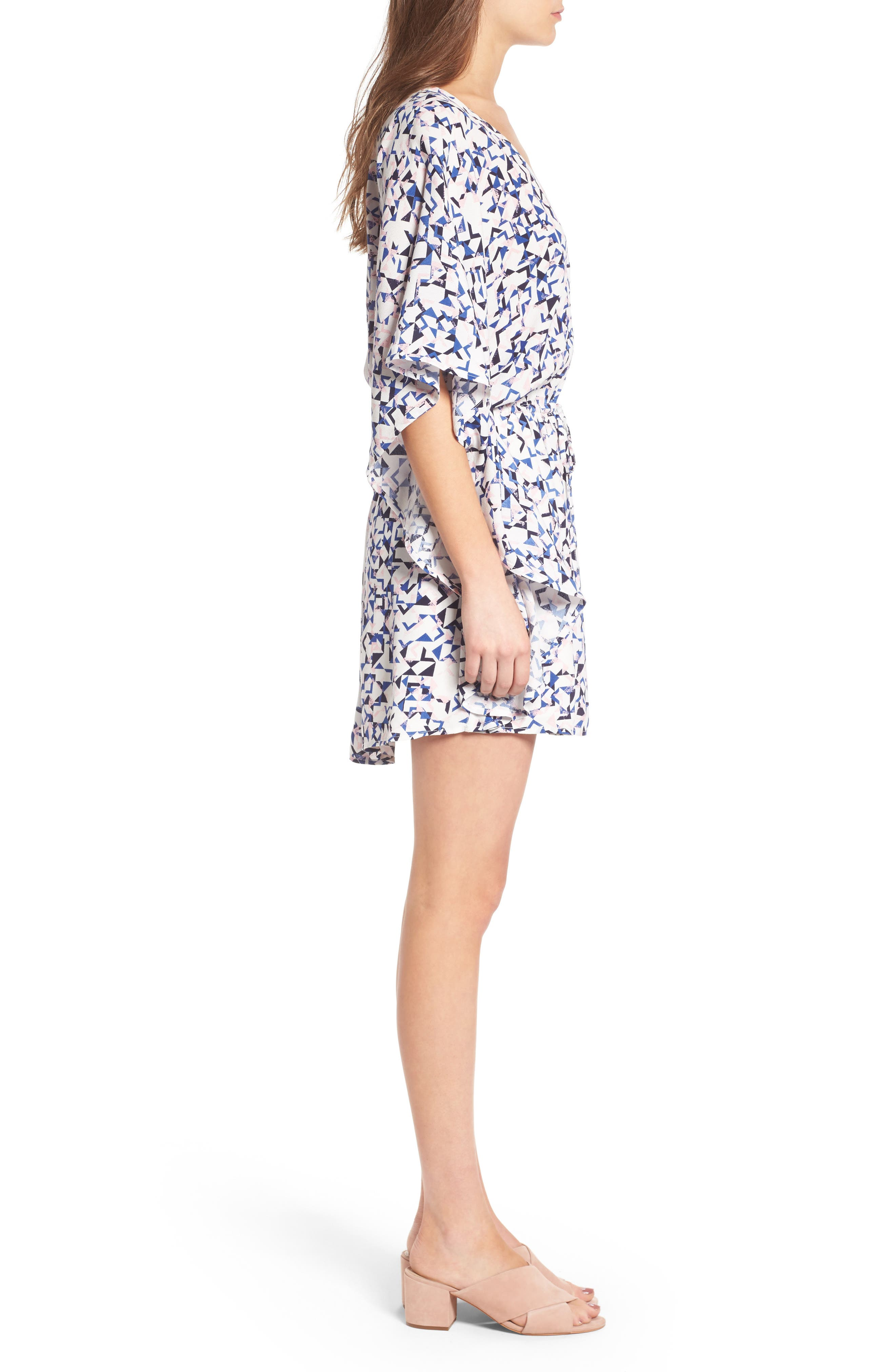 Alternate Image 3  - cupcakes and cashmere Lakeside Floral Print Minidress