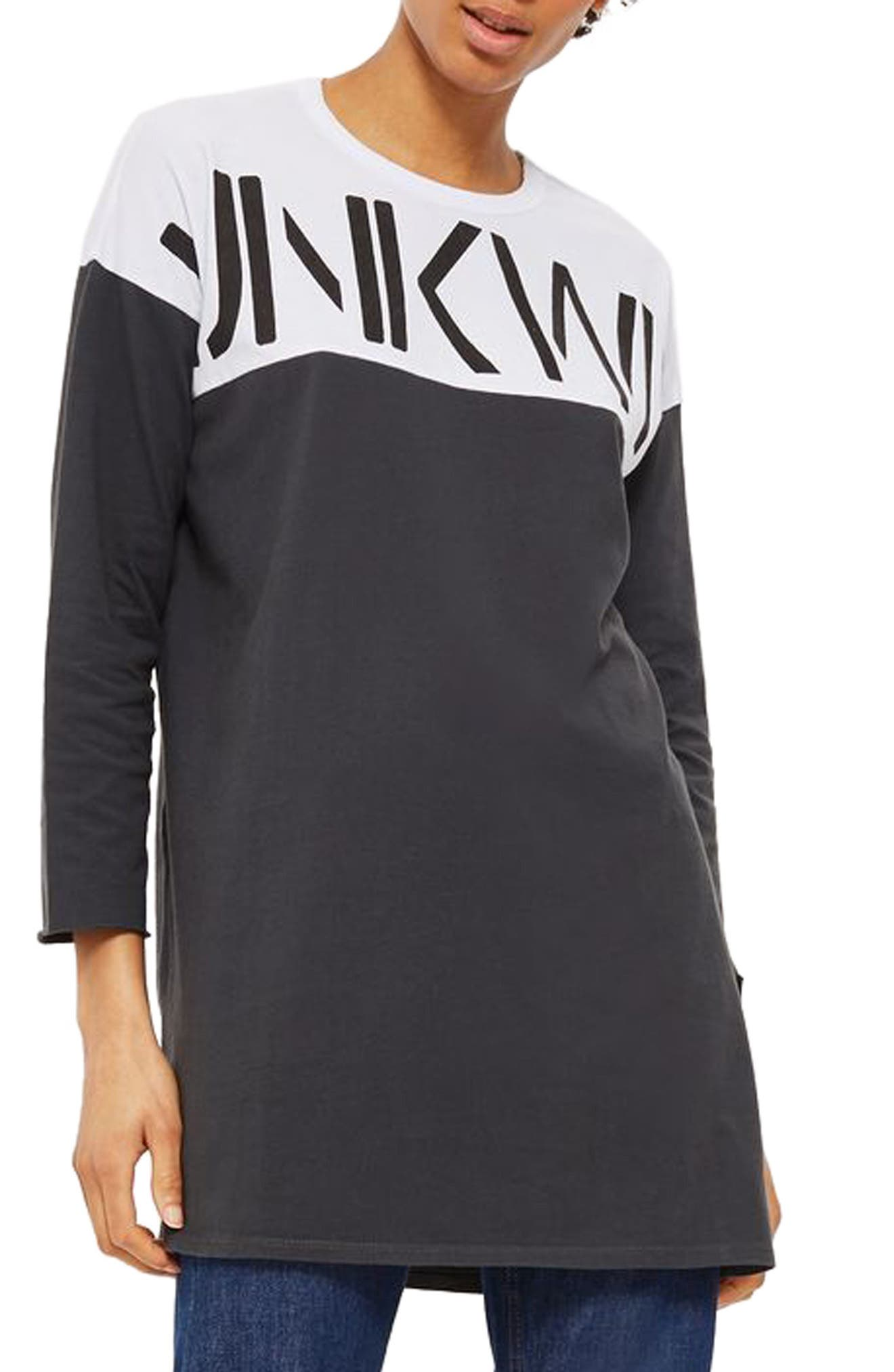 Alternate Image 1 Selected - Topshop Unknown Backless Tunic