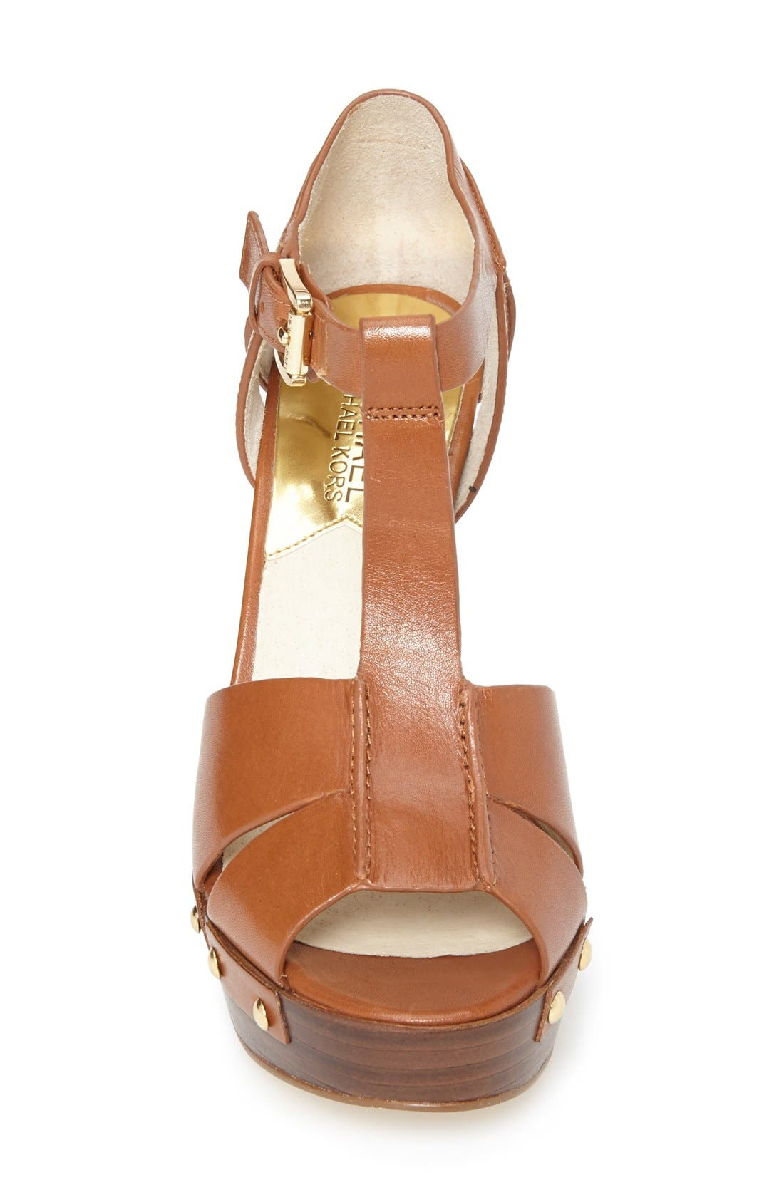 Alternate Image 3  - MICHAEL Michael Kors 'Beatrice' Leather T-Strap Platform Sandal (Women)
