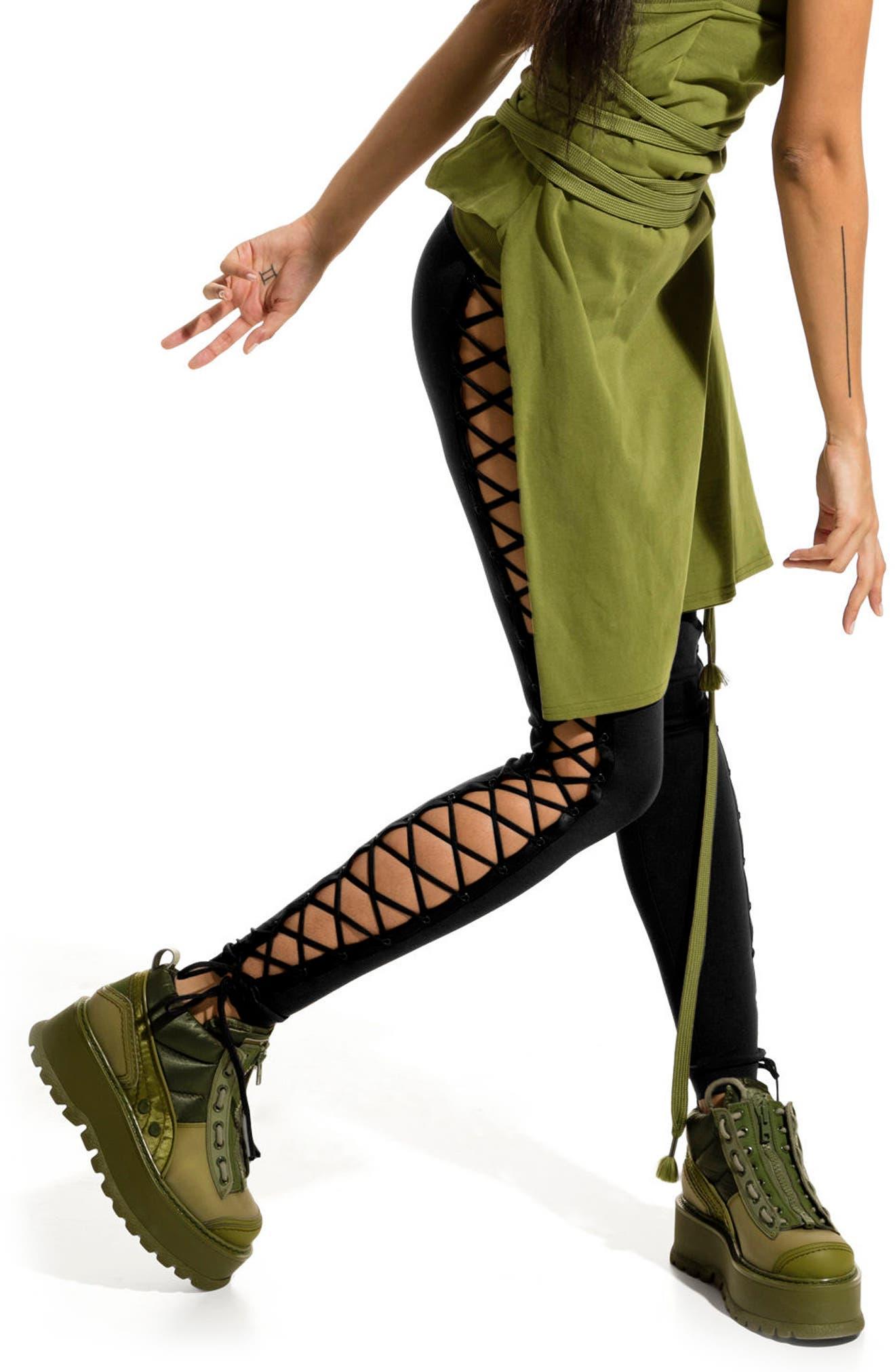 FENTY PUMA by Rihanna Side Lace-Up Leggings