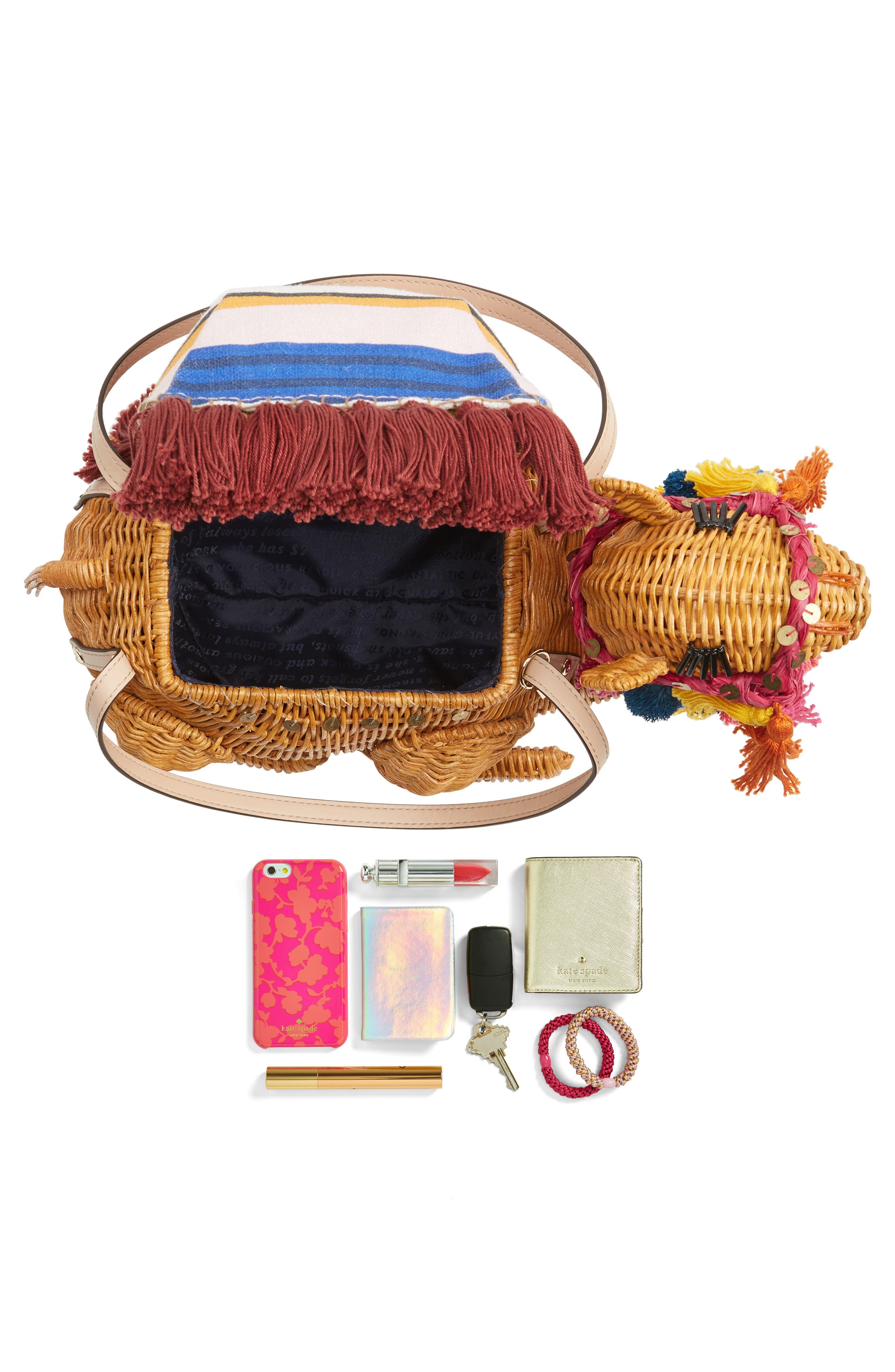 Alternate Image 7  - kate spade new york spice things up wicker camel handbag