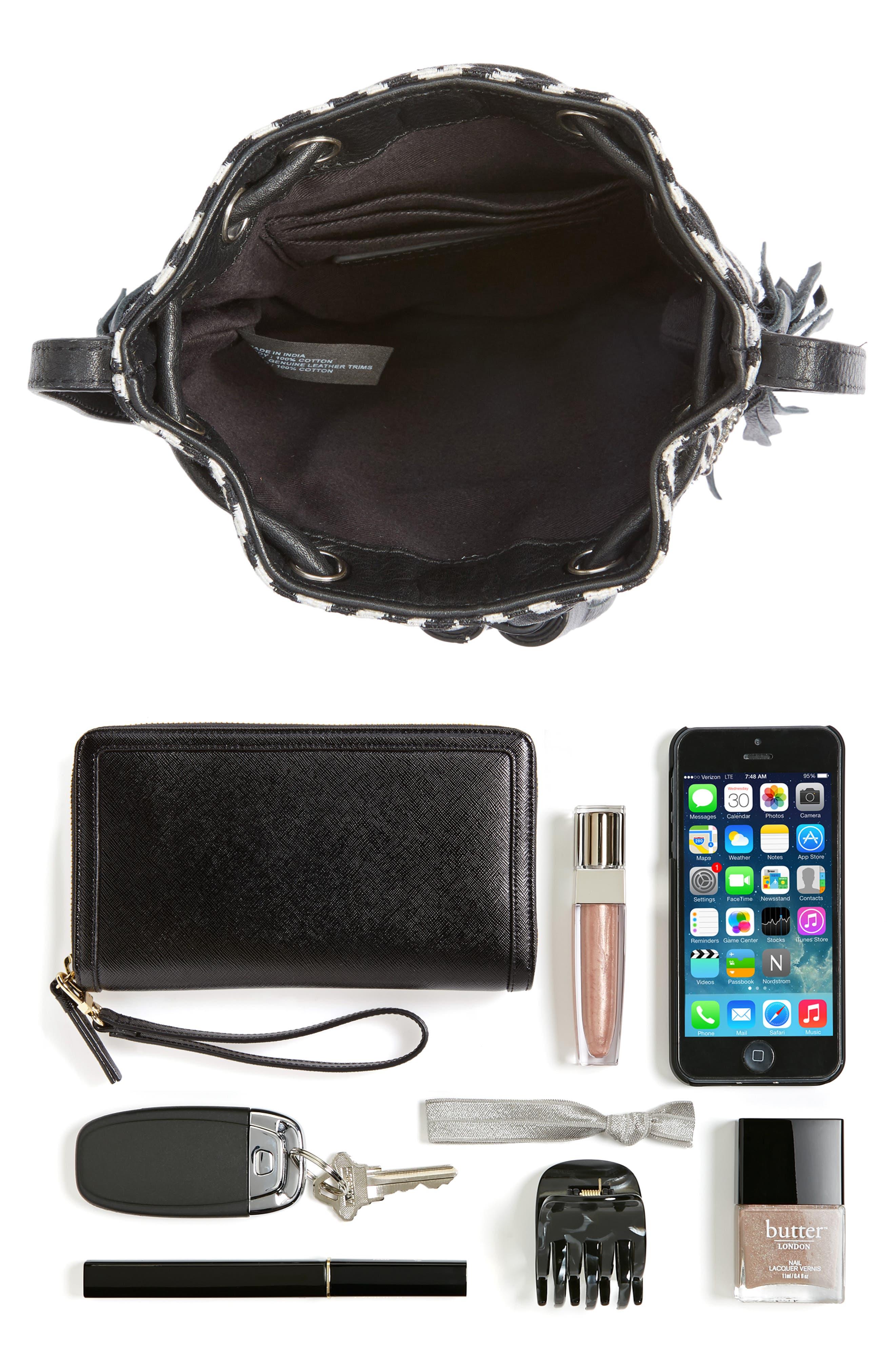 Alternate Image 7  - Rebecca Minkoff Wonder Phone Canvas Crossbody Bag