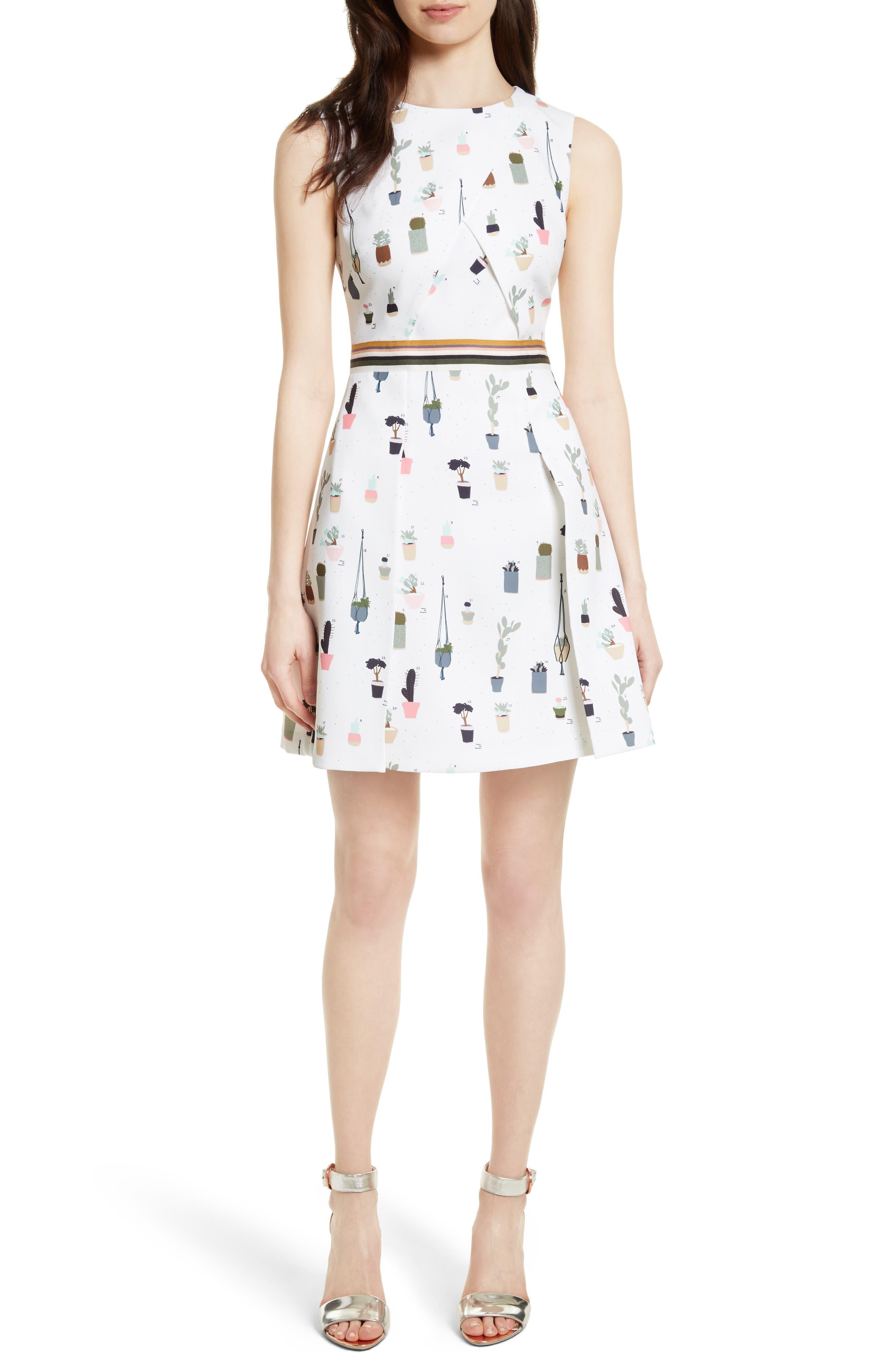 Main Image - Ted Baker London Tetro Sleeveless Fit & Flare Dress