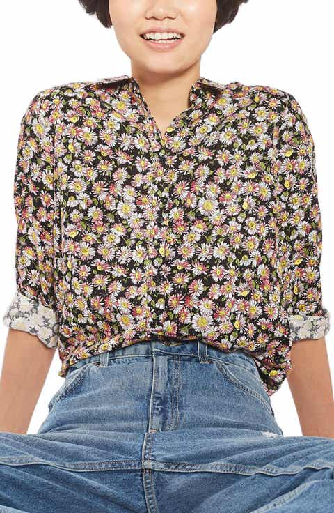 Topshop Daisy Print Shirt
