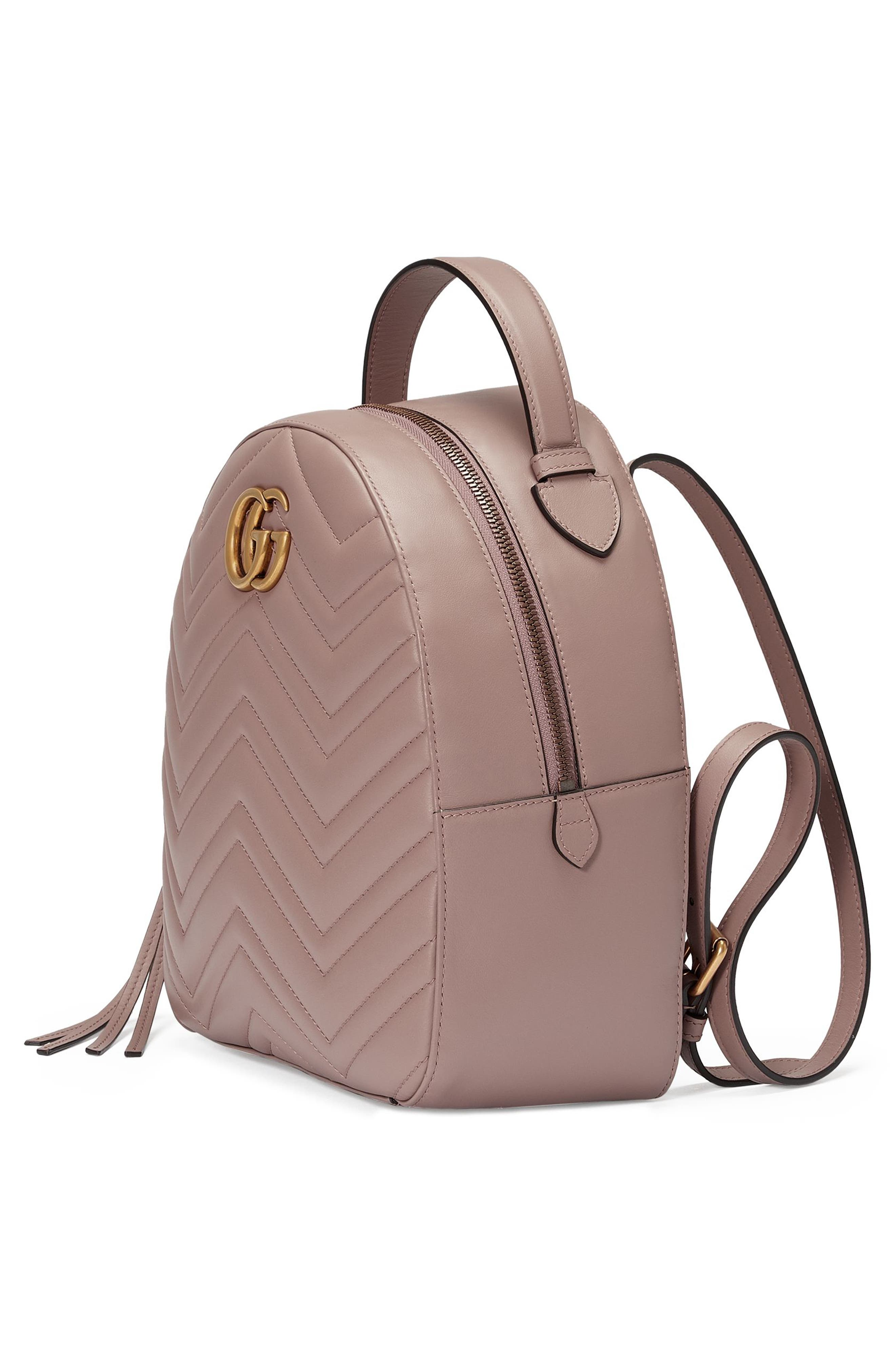 Alternate Image 4  - Gucci GG Marmont Matelassé Quilted Leather Backpack