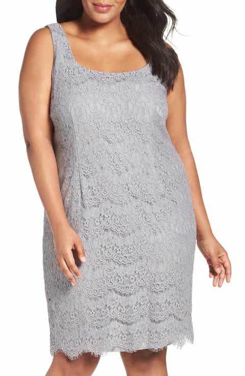 Alex Evenings Lace Sheath Dress with Jacket (Plus Size)