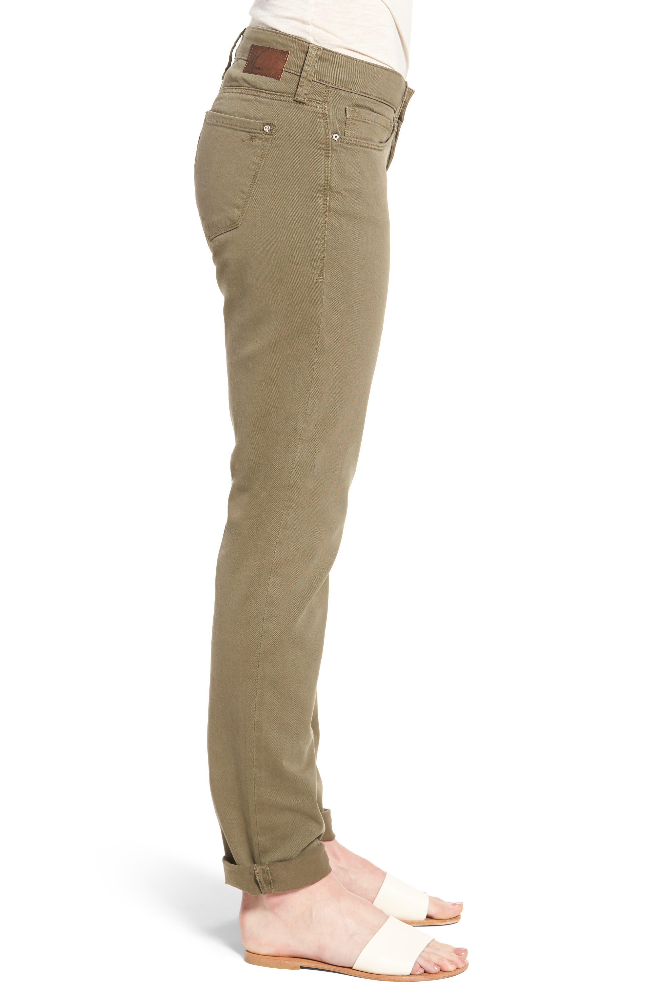 Alternate Image 3  - Mavi Jeans Emma Slim Boyfriend Stretch Twill Pants