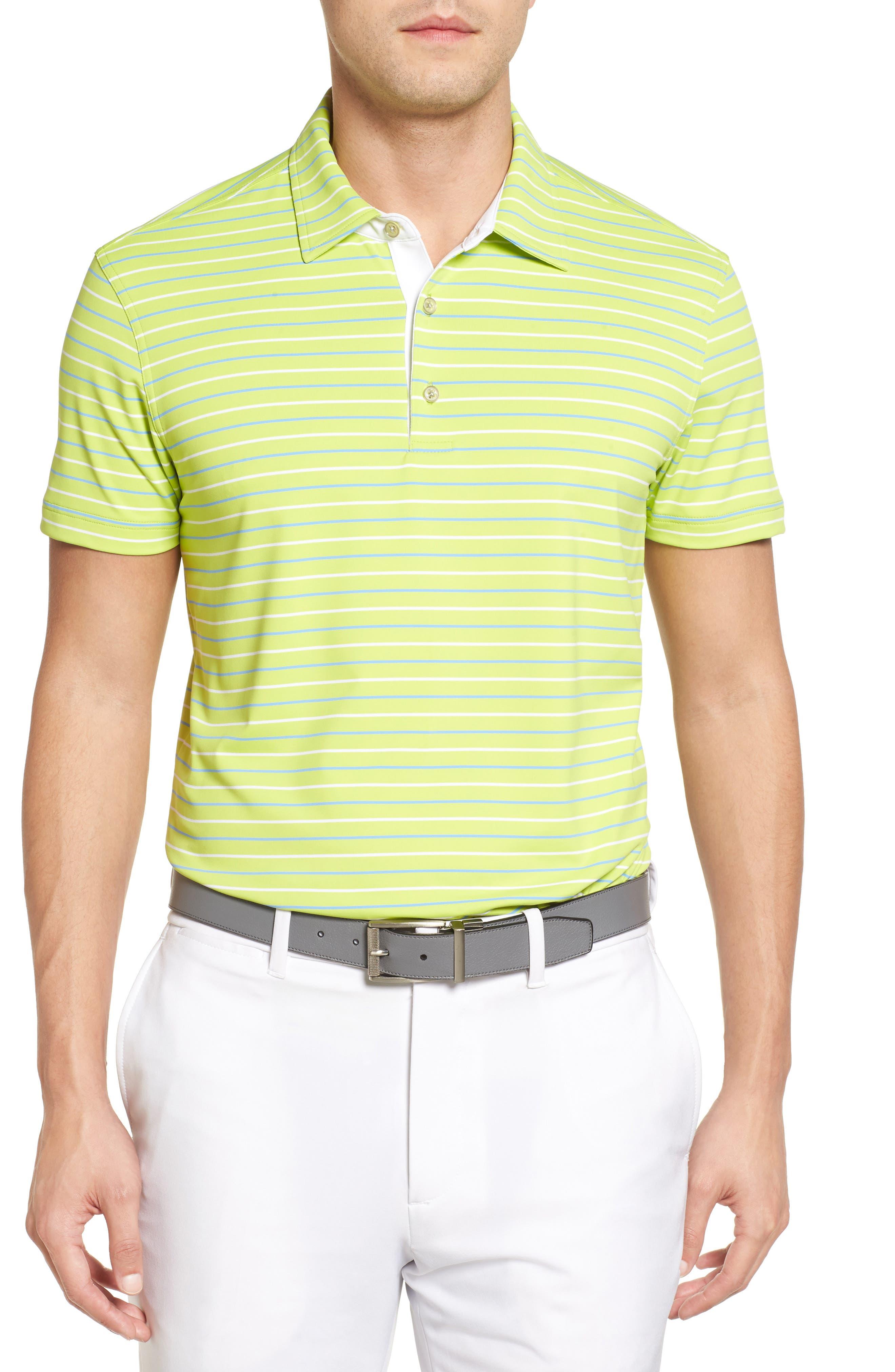 Bobby Jones File Tech Stripe Golf Polo