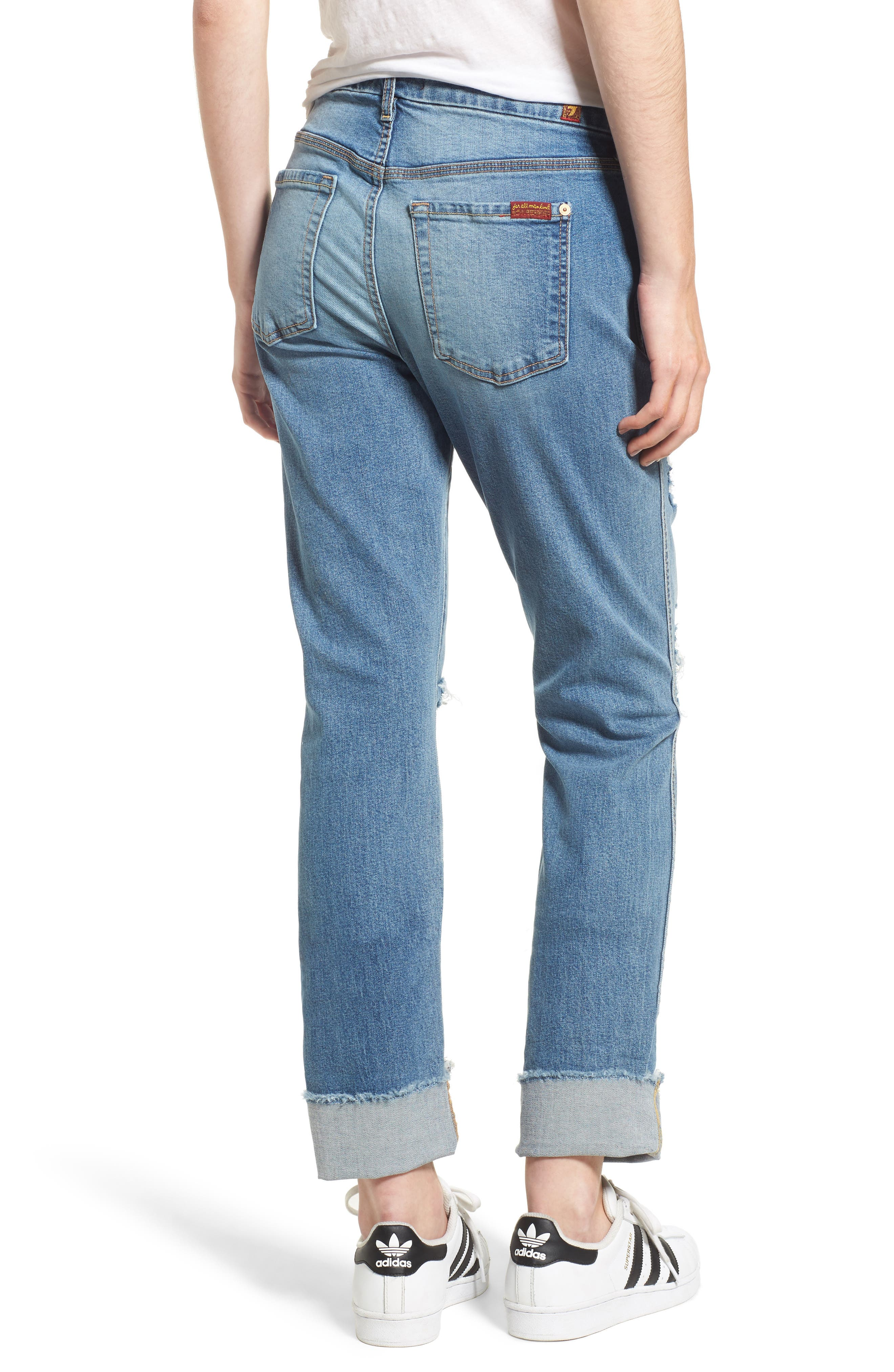 Alternate Image 2  - 7 For All Mankind® Fashion High Waist Boyfriend Jeans (Vintage Air Classic)