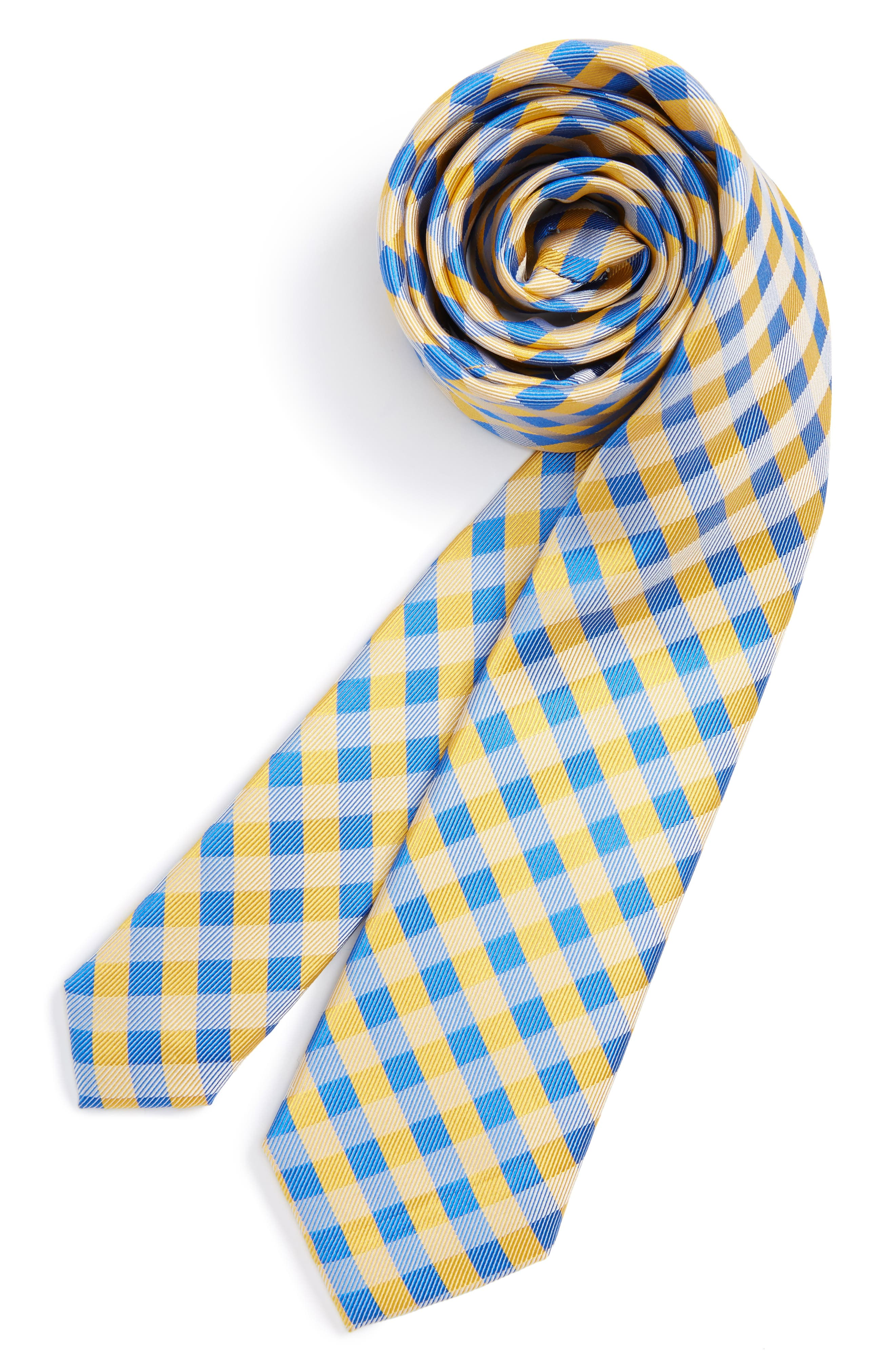 Nordstrom Plaid Silk Tie (Big Boys)