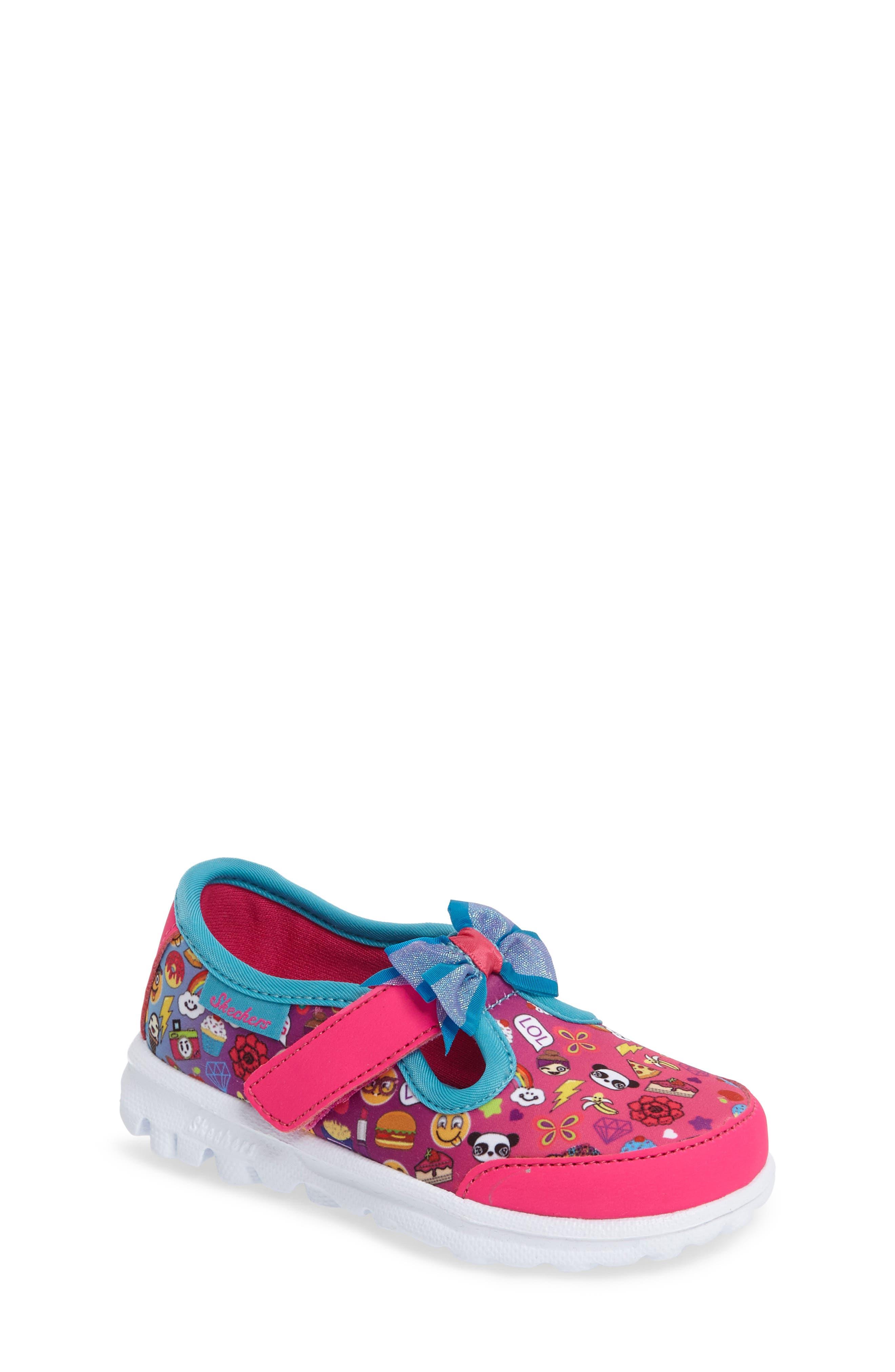 SKECHERS Go Walk Bow-Moji Sneaker (Walker & Toddler)