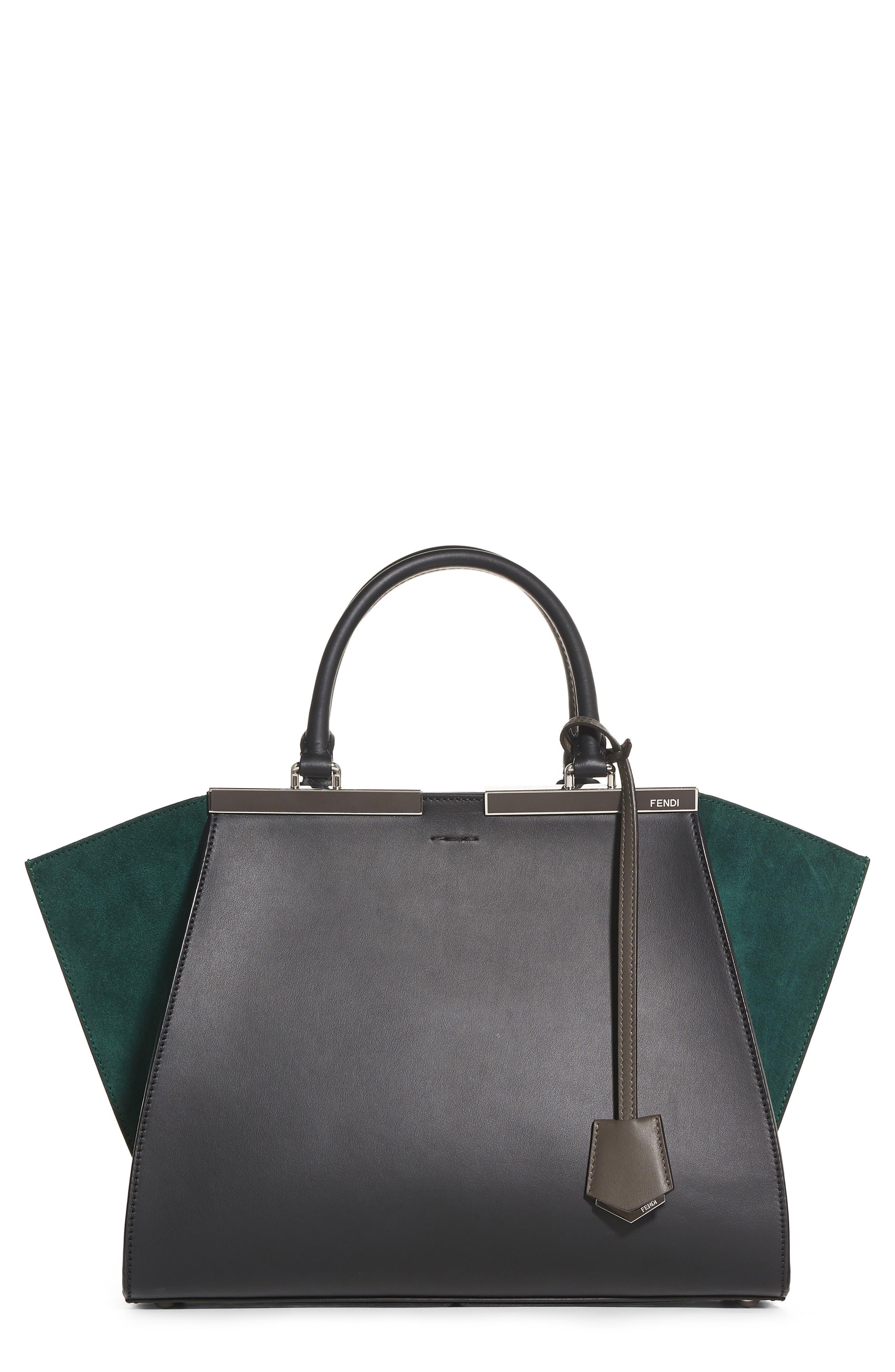 Fendi 3Jours Baltico Leather & Suede Shopper