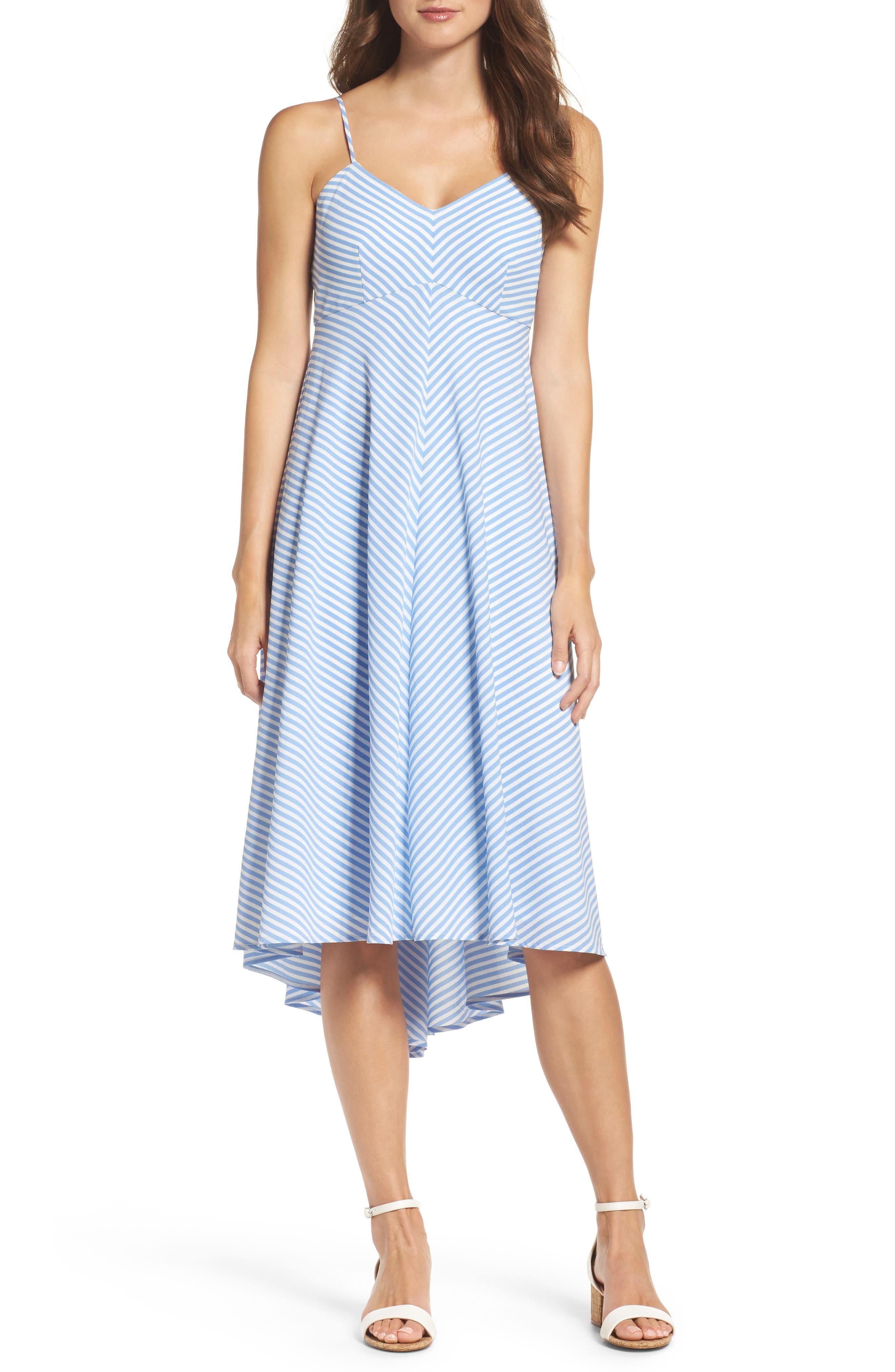 Main Image - Taylor Dresses Stripe Midi Dress