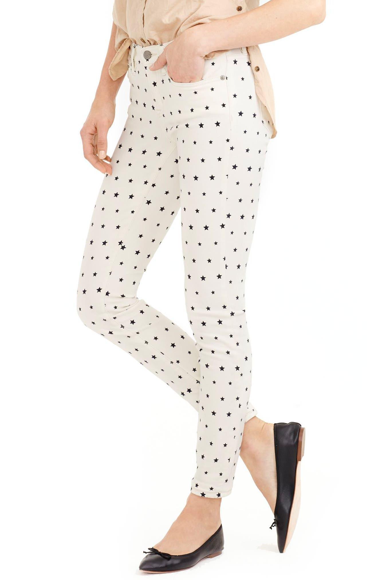 J.CREW Mini Star Print Toothpick Jeans