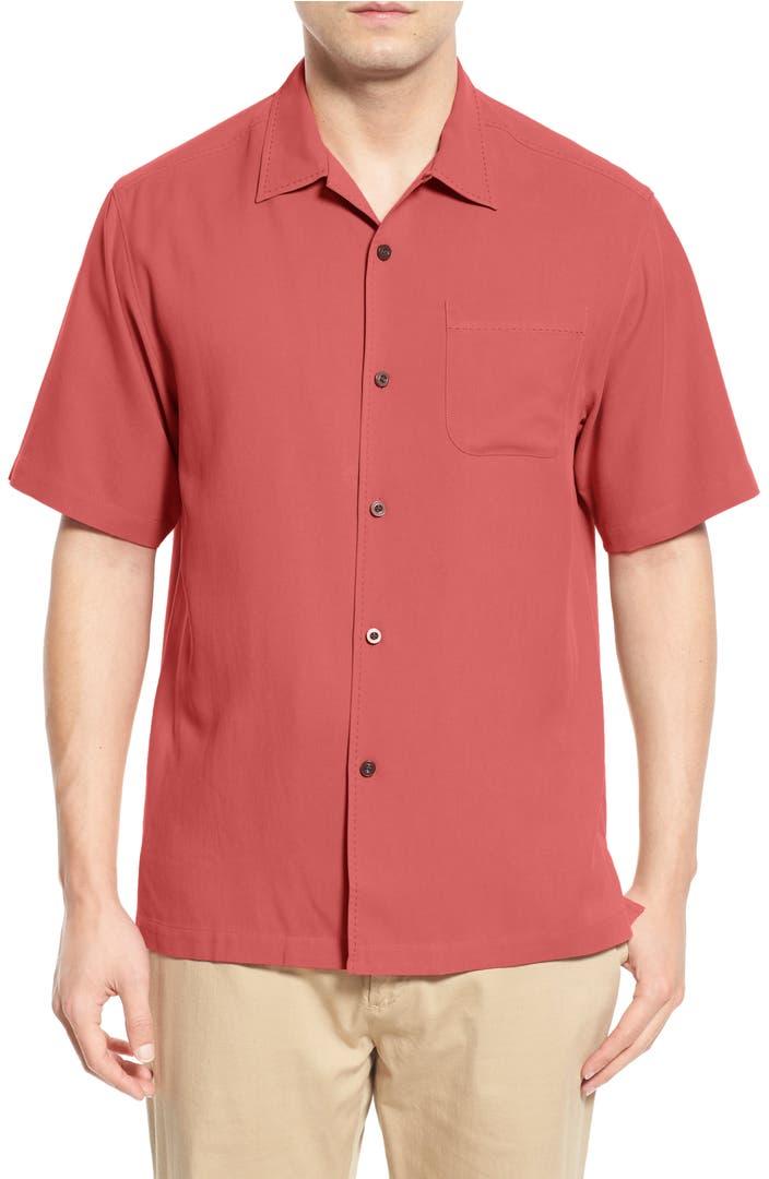 Hawaiian shirts for men nordstrom for Tommy bahama catalina twill silk camp shirt