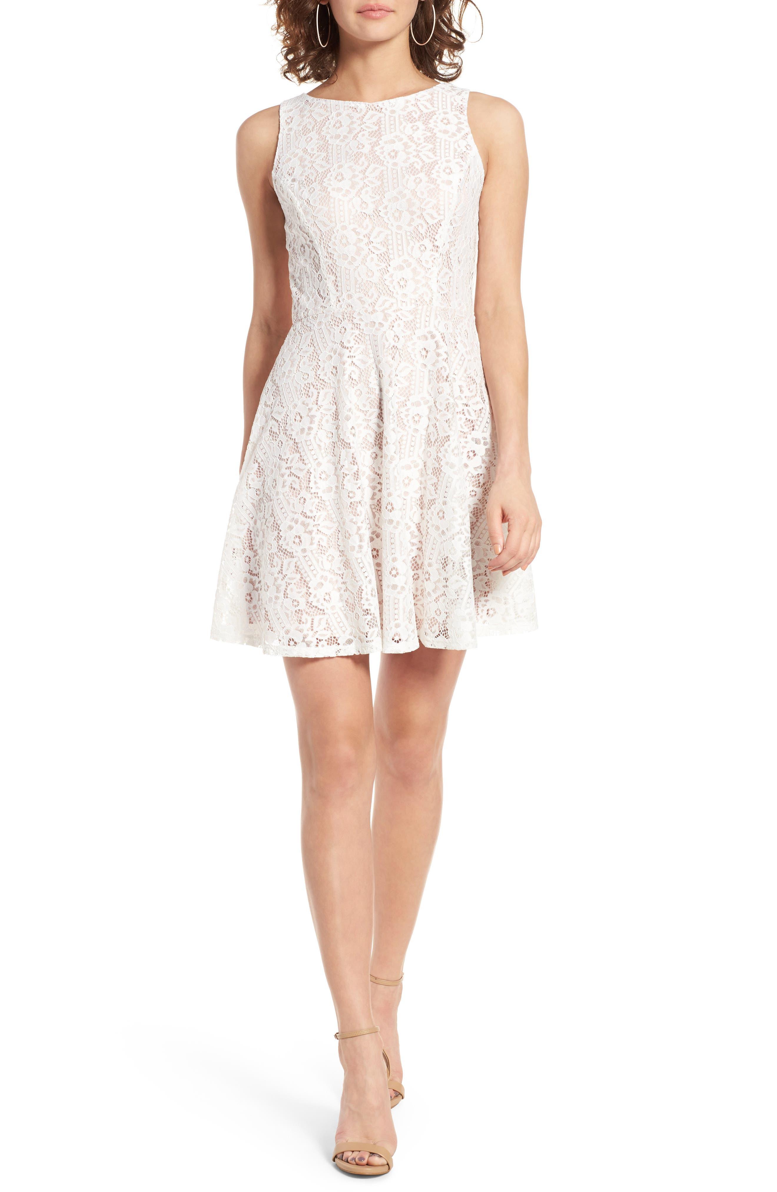 Alternate Image 1 Selected - Speechless Lace Skater Dress