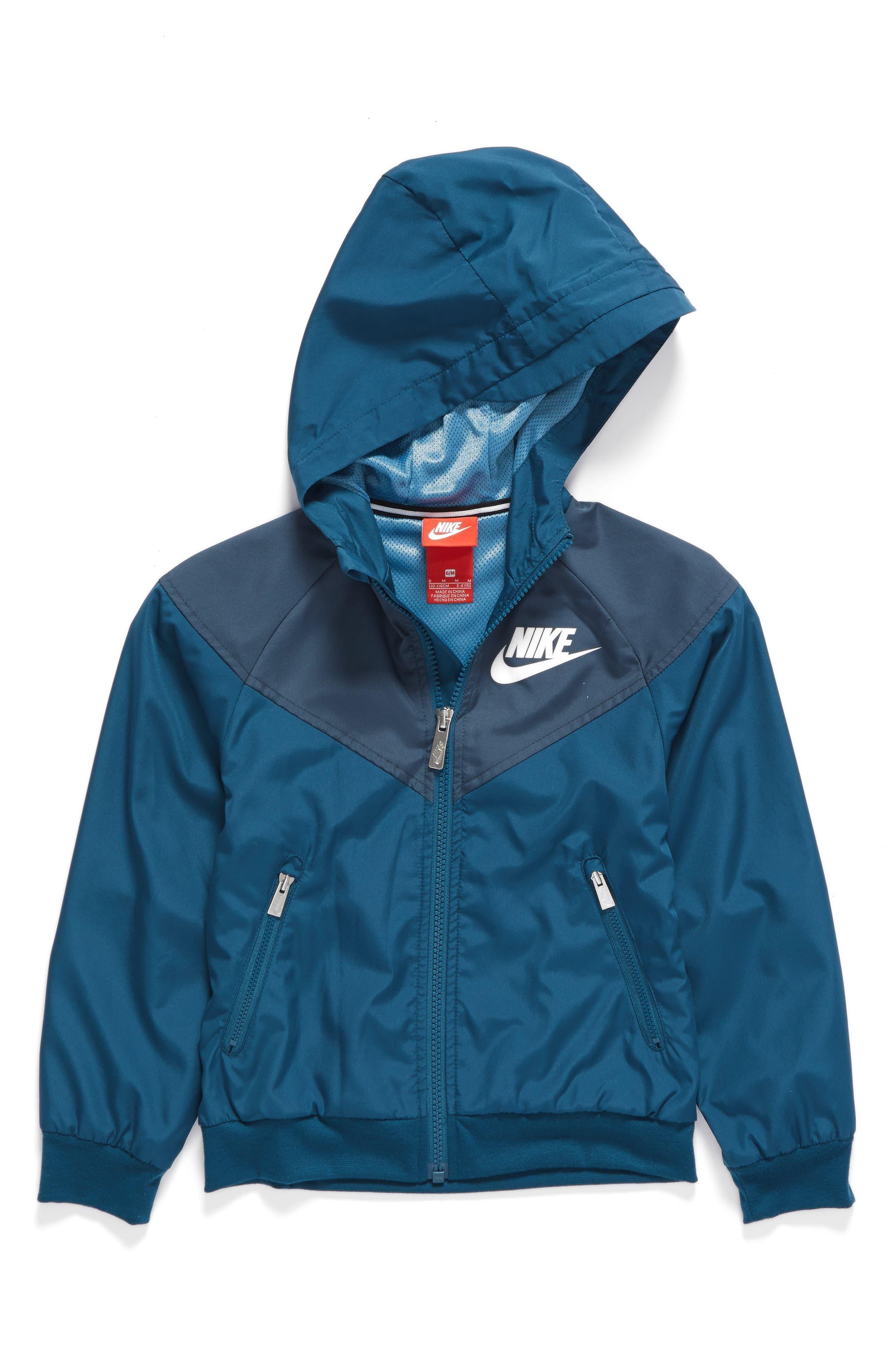 Nike Windrunner Water Resistant Hooded Jacket (Toddler Boys & Little Boys)