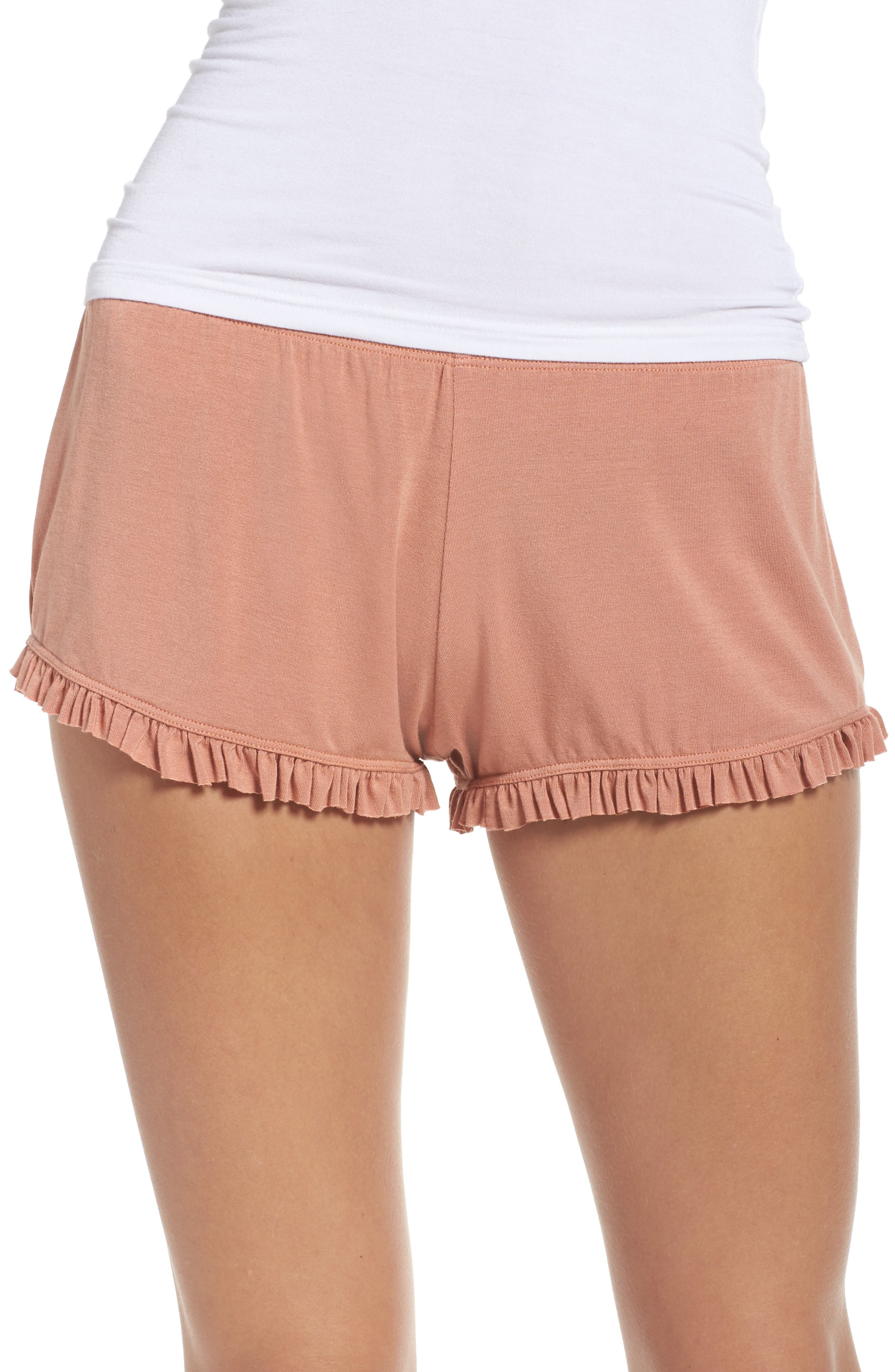 Olympia Theodora Bae Ruffle Lounge Shorts