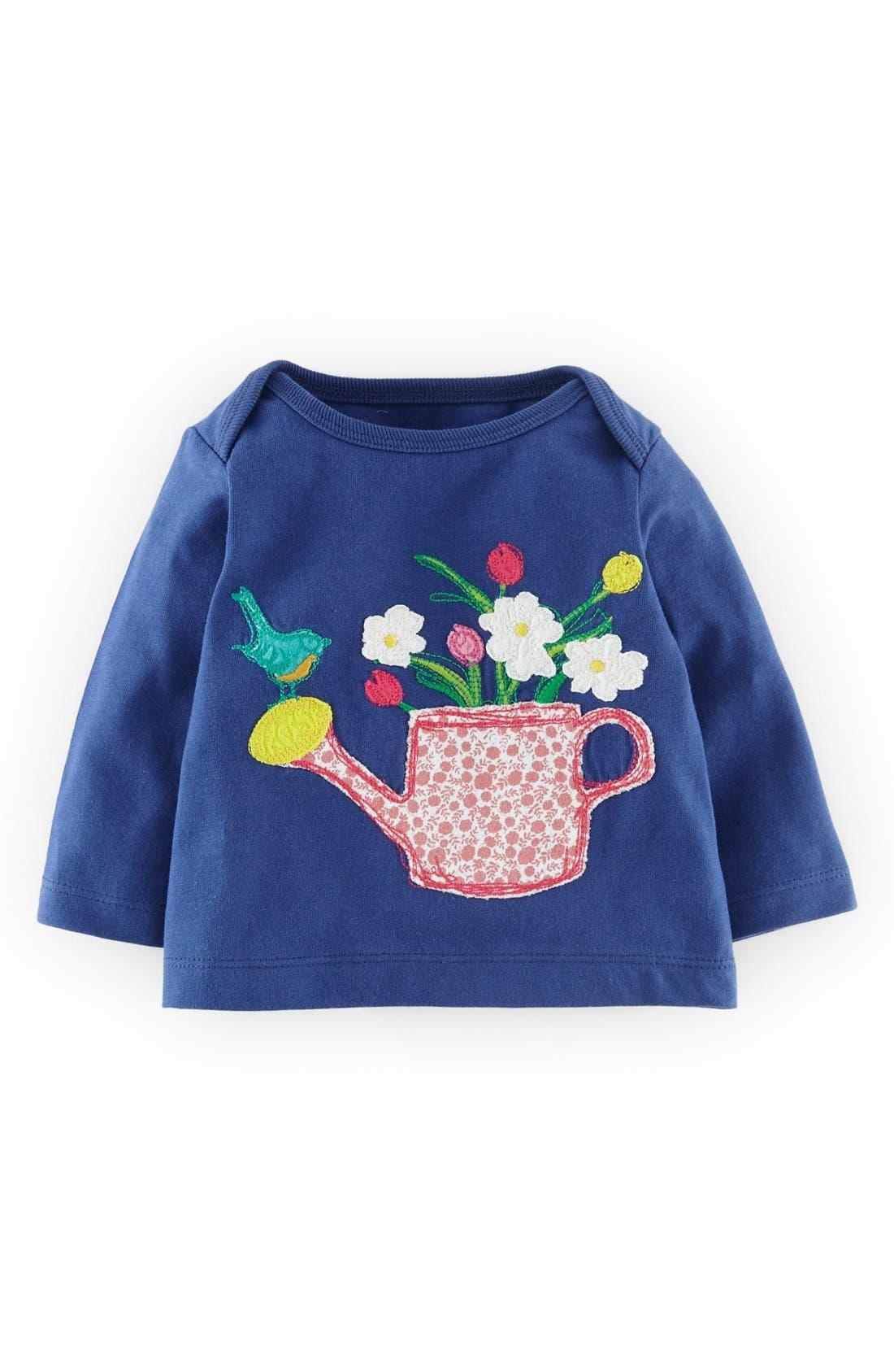 Mini Boden Patchwork Appliqué Tee (Baby Girls)