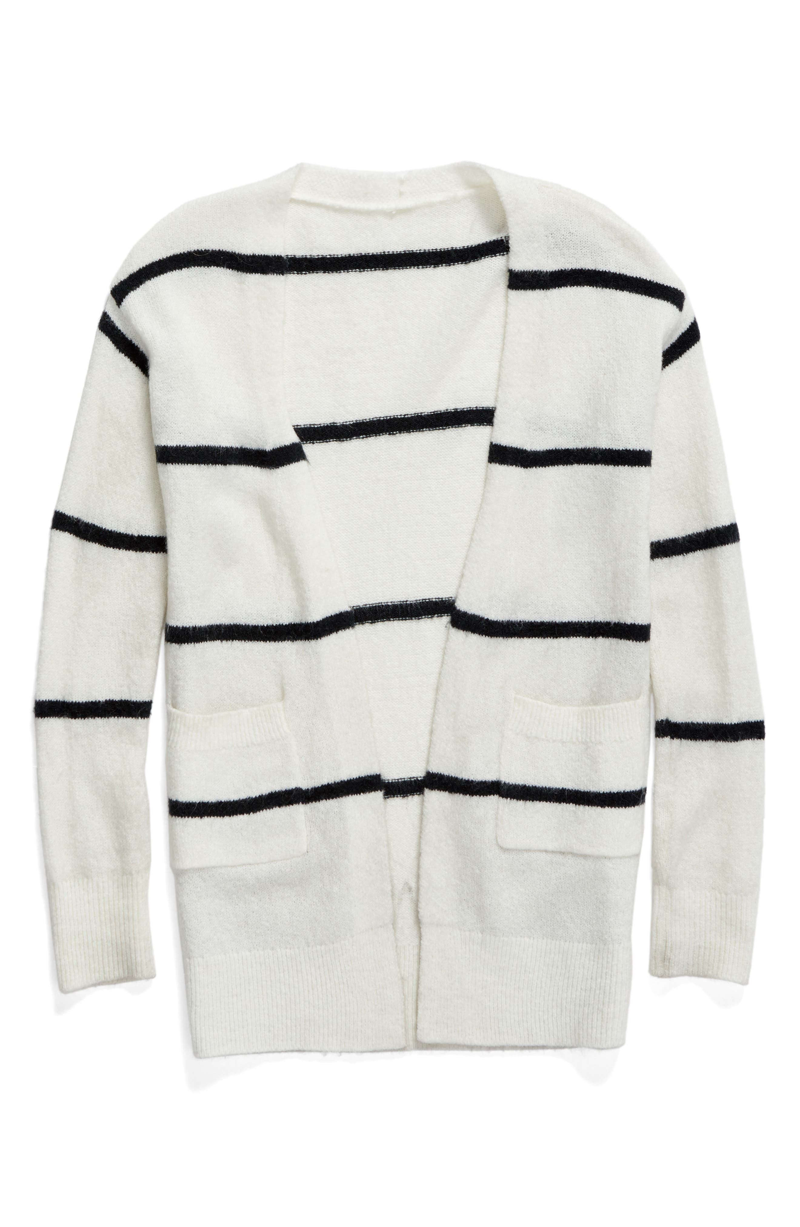 Tucker + Tate Open Stripe Cardigan (Big Girls)