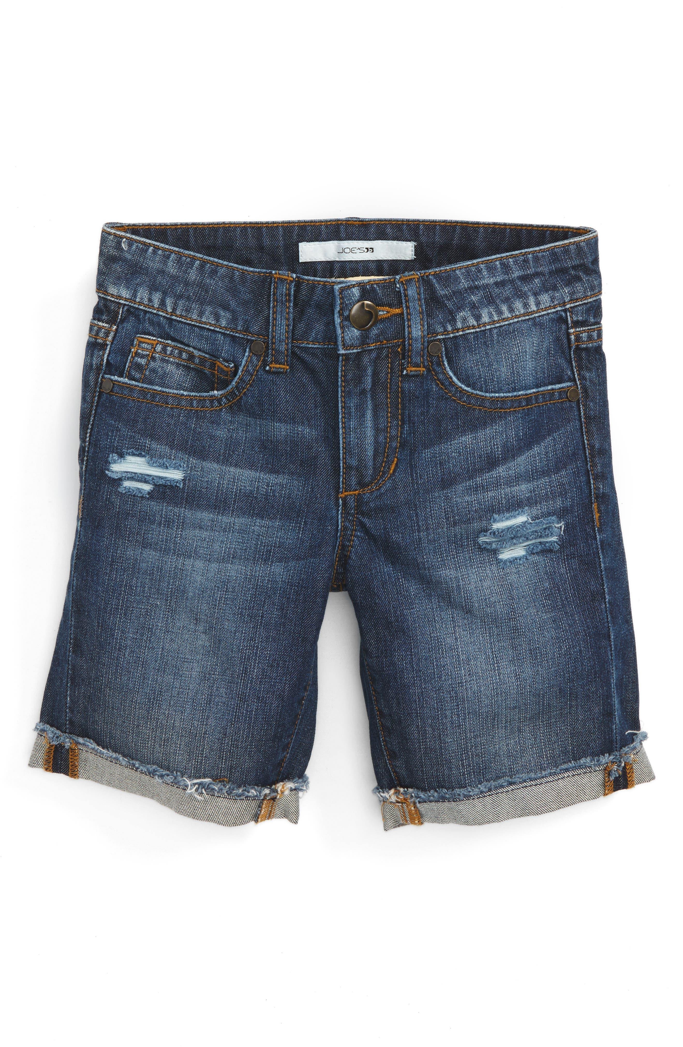 Main Image - Joe's Frayed Cuff Bermuda Shorts (Toddler Girls & Little Girls)