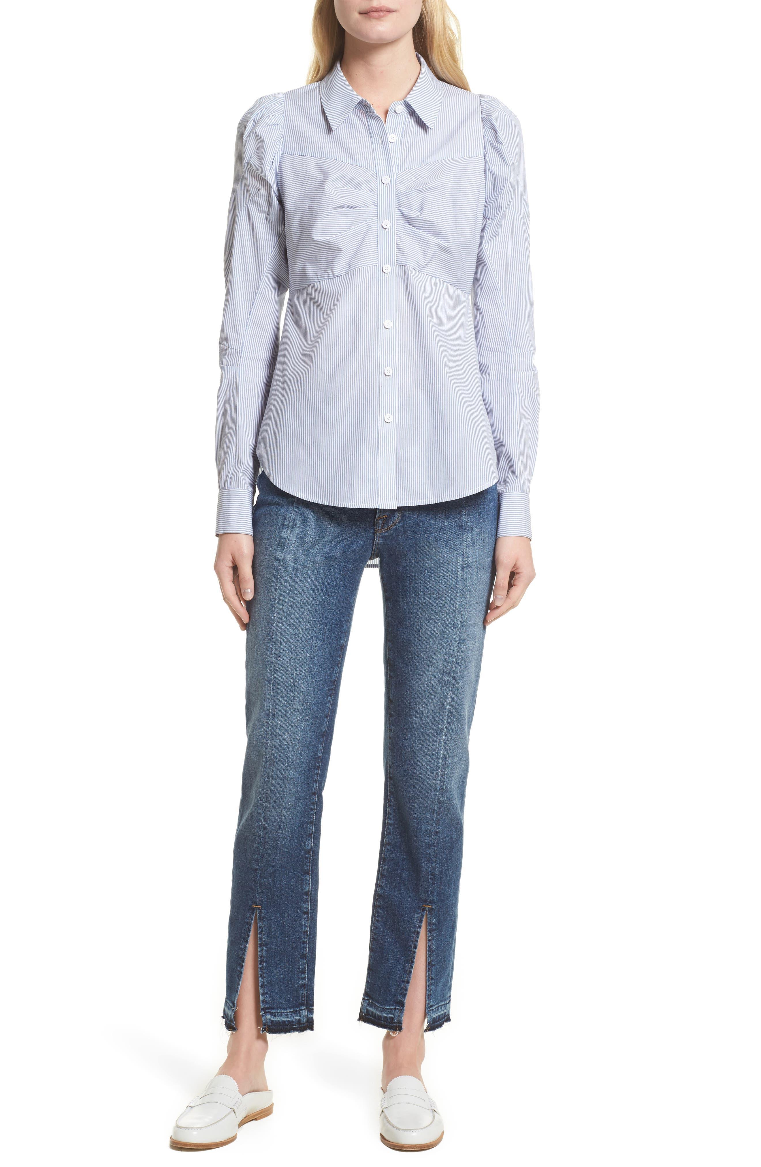 Alternate Image 9  - FRAME Le Nouveau Split Hem Jeans (Sheffield) (Nordstrom Exclusive)