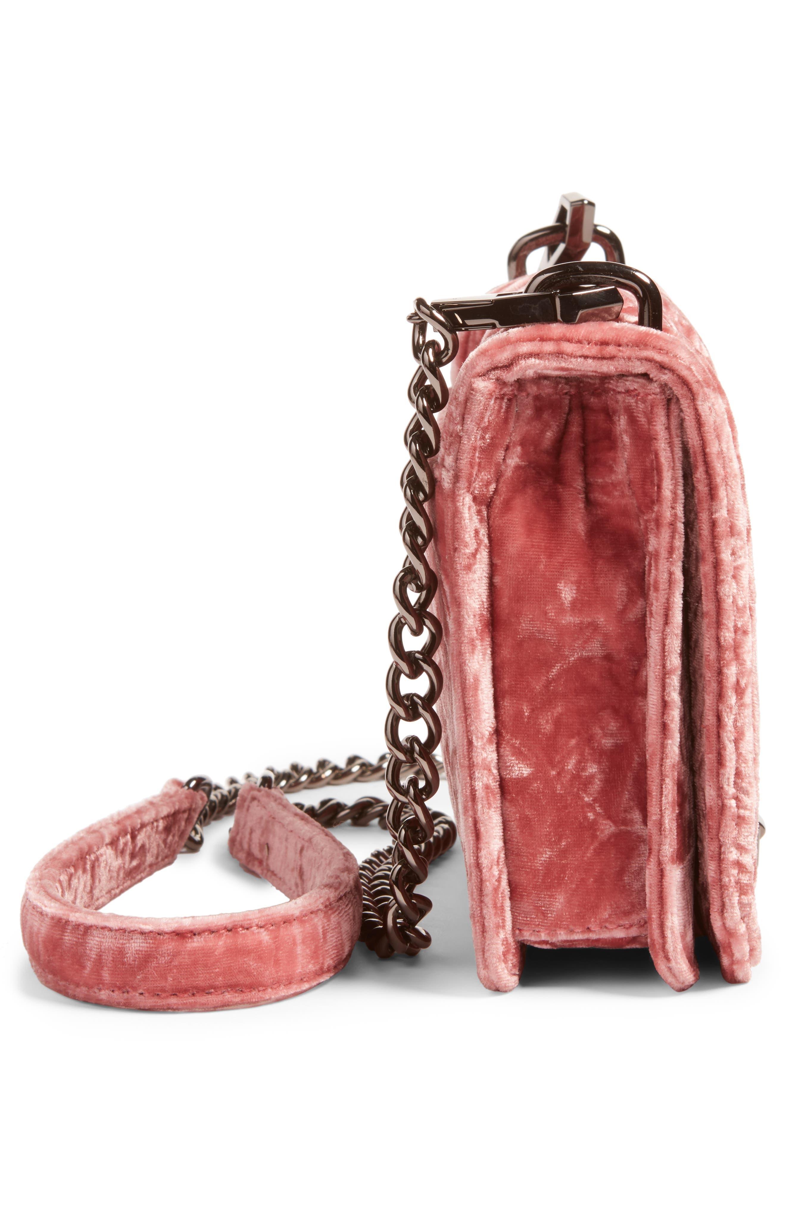 Alternate Image 5  - Rebecca Minkoff Small Love Velvet Crossbody Bag (Nordstrom Exclusive)