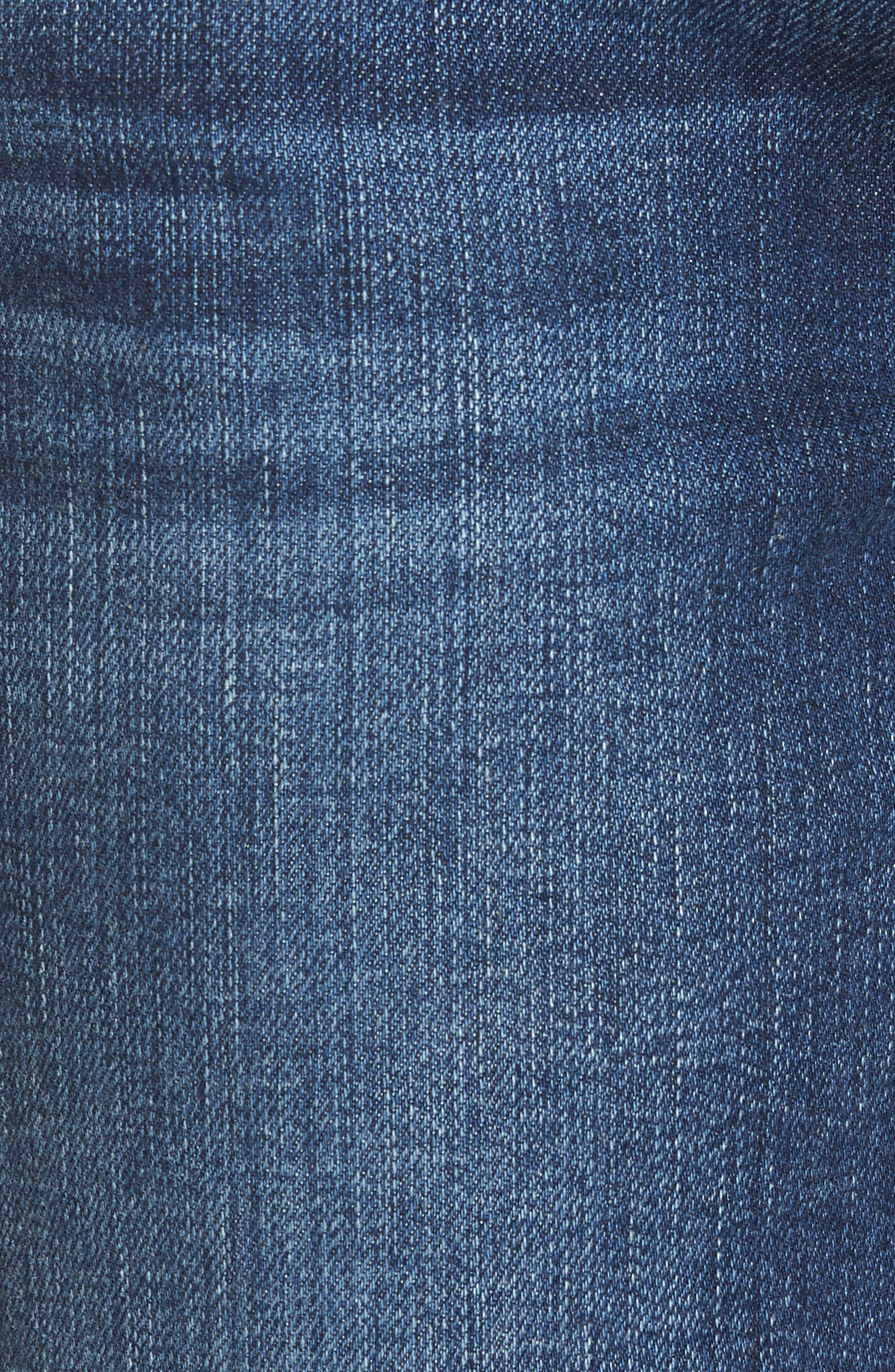 Alternate Image 5  - 7 For All Mankind® Kiki High Waist Crop Wide Leg Jeans (Eden Port)