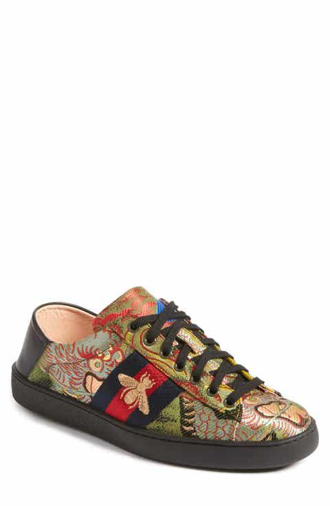 Gucci New Ace Baroque Convertible Back Sneaker (Men)