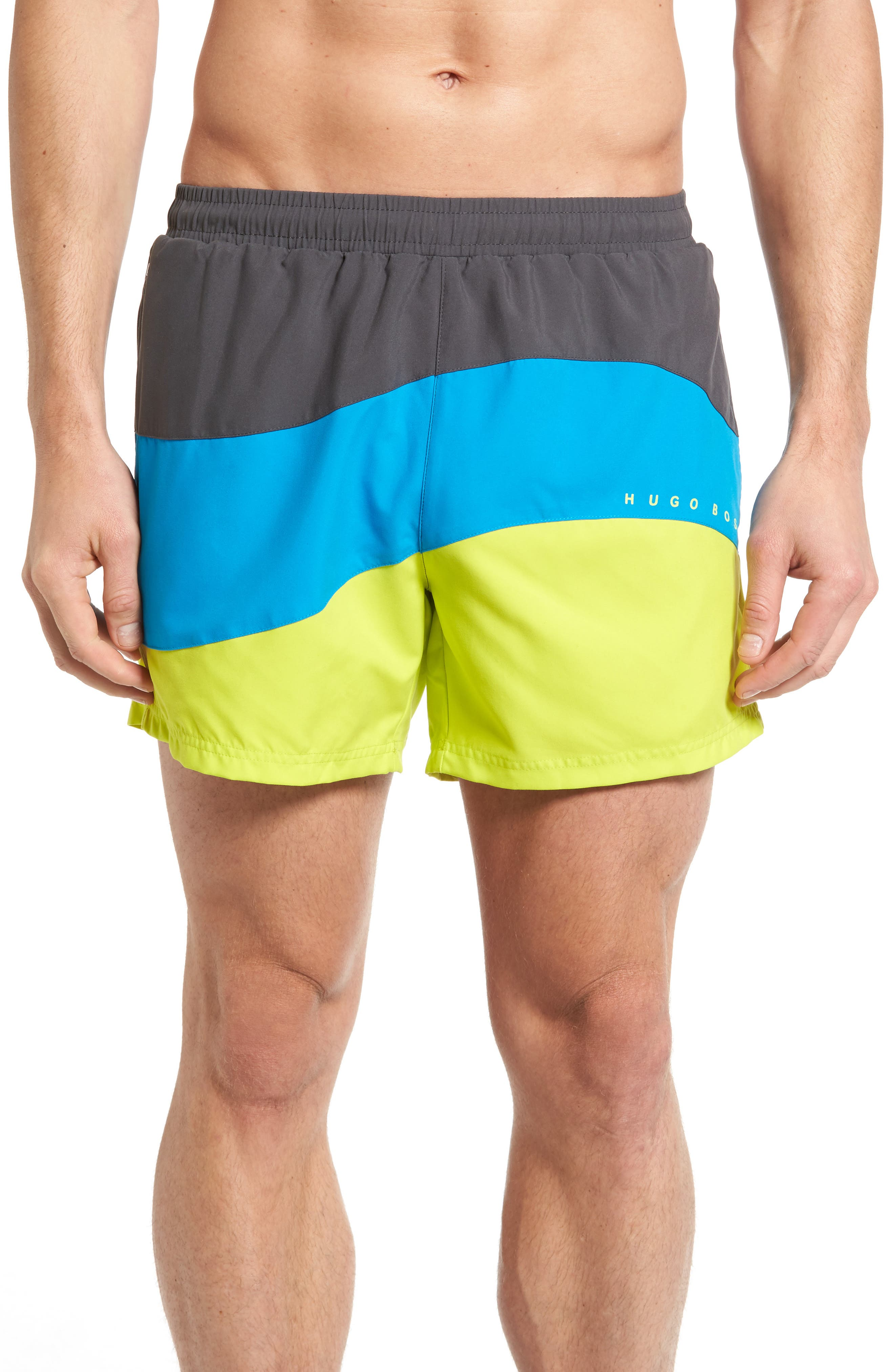 BOSS Butterfly Fish Swim Trunks
