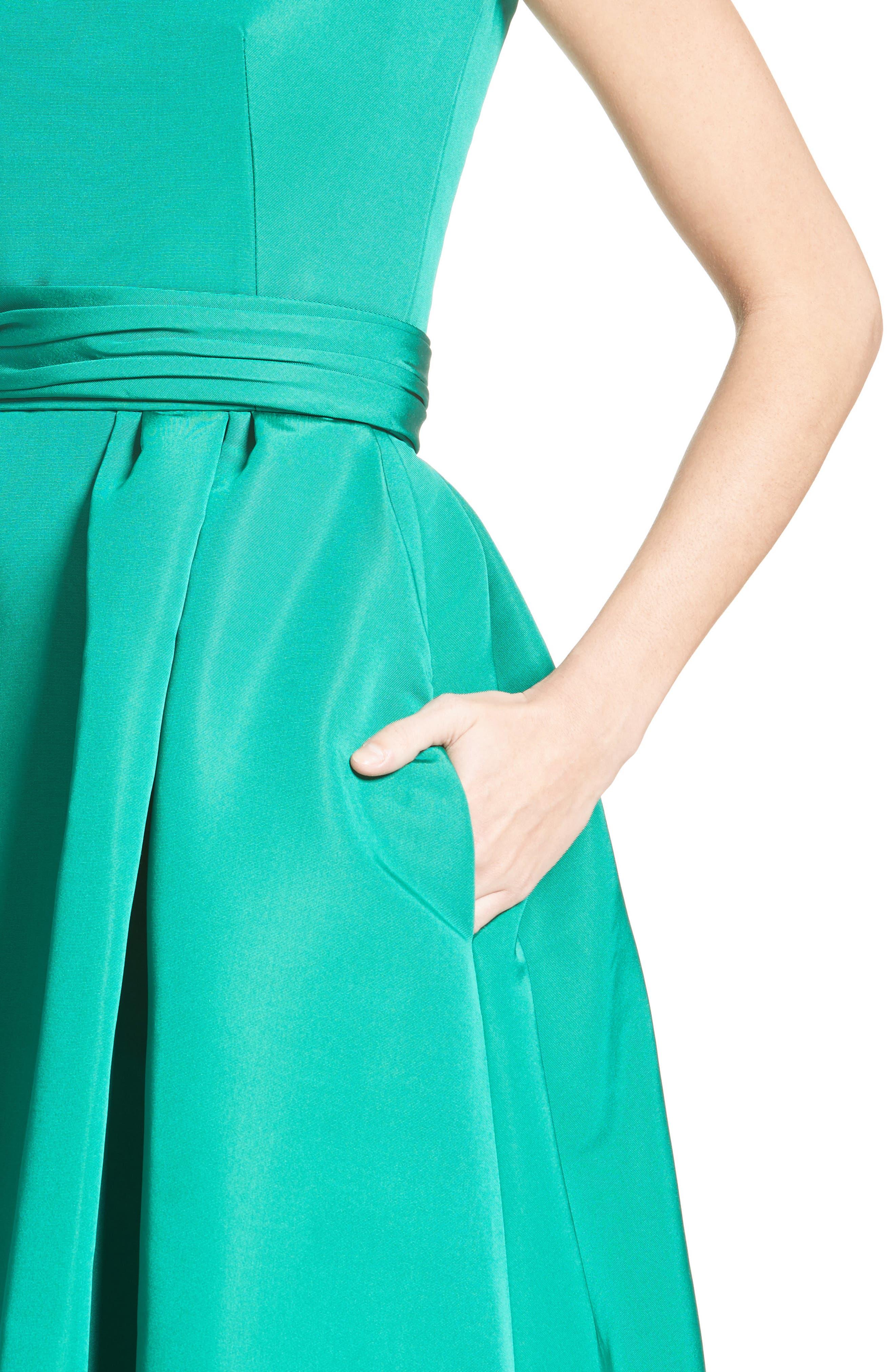 Alternate Image 4  - Carolina Herrera Off the Shoulder Silk Faille Gown