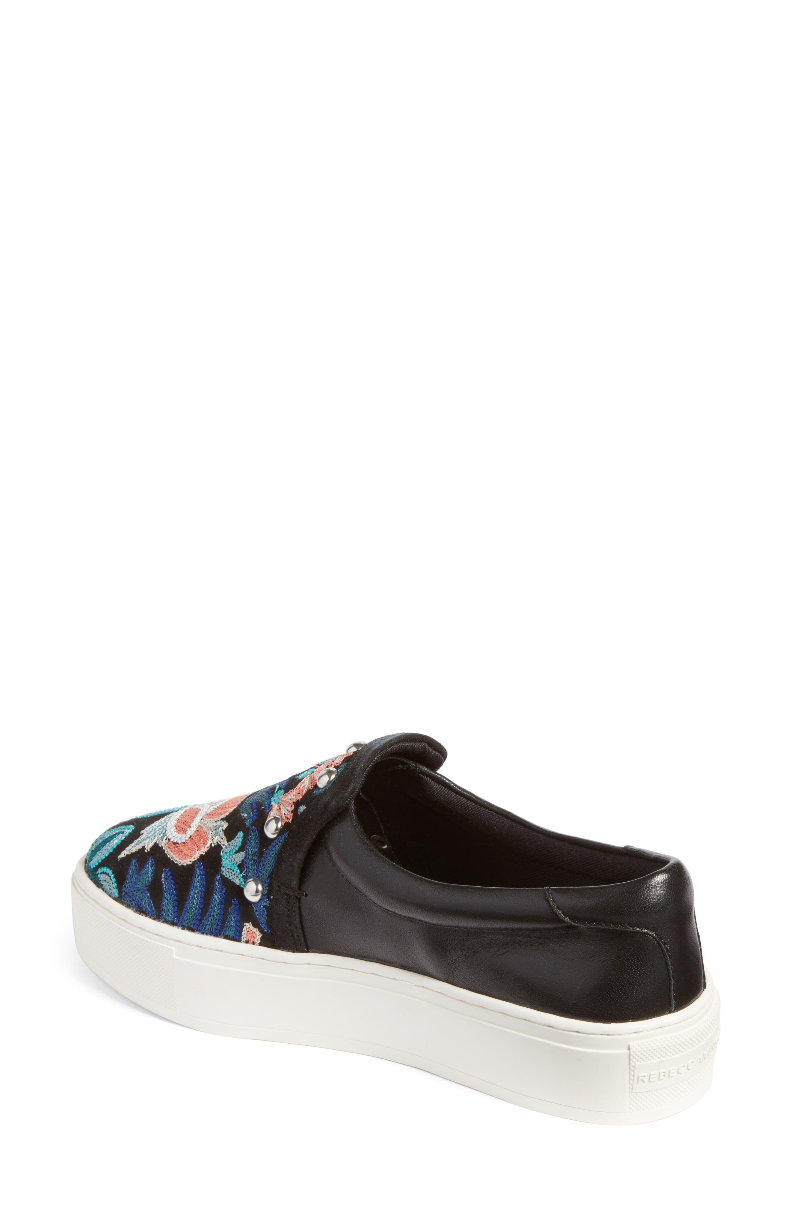 Alternate Image 2  - Rebecca Minkoff Noelle Embellished Slip-On Platform Sneaker (Women)