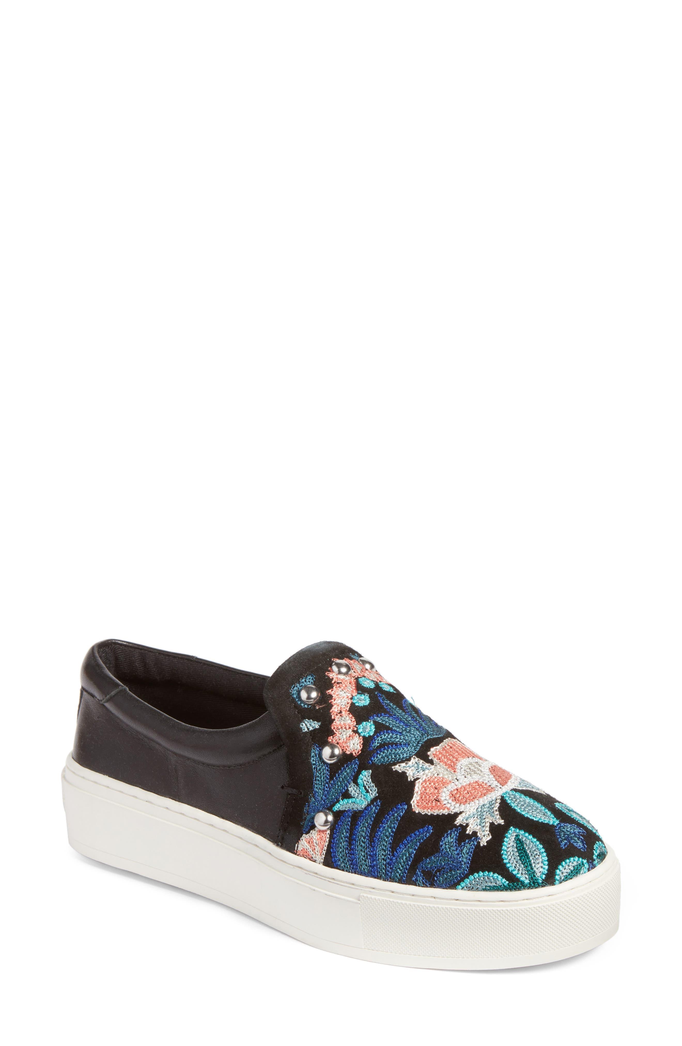 Alternate Image 1 Selected - Rebecca Minkoff Noelle Embellished Slip-On Platform Sneaker (Women)