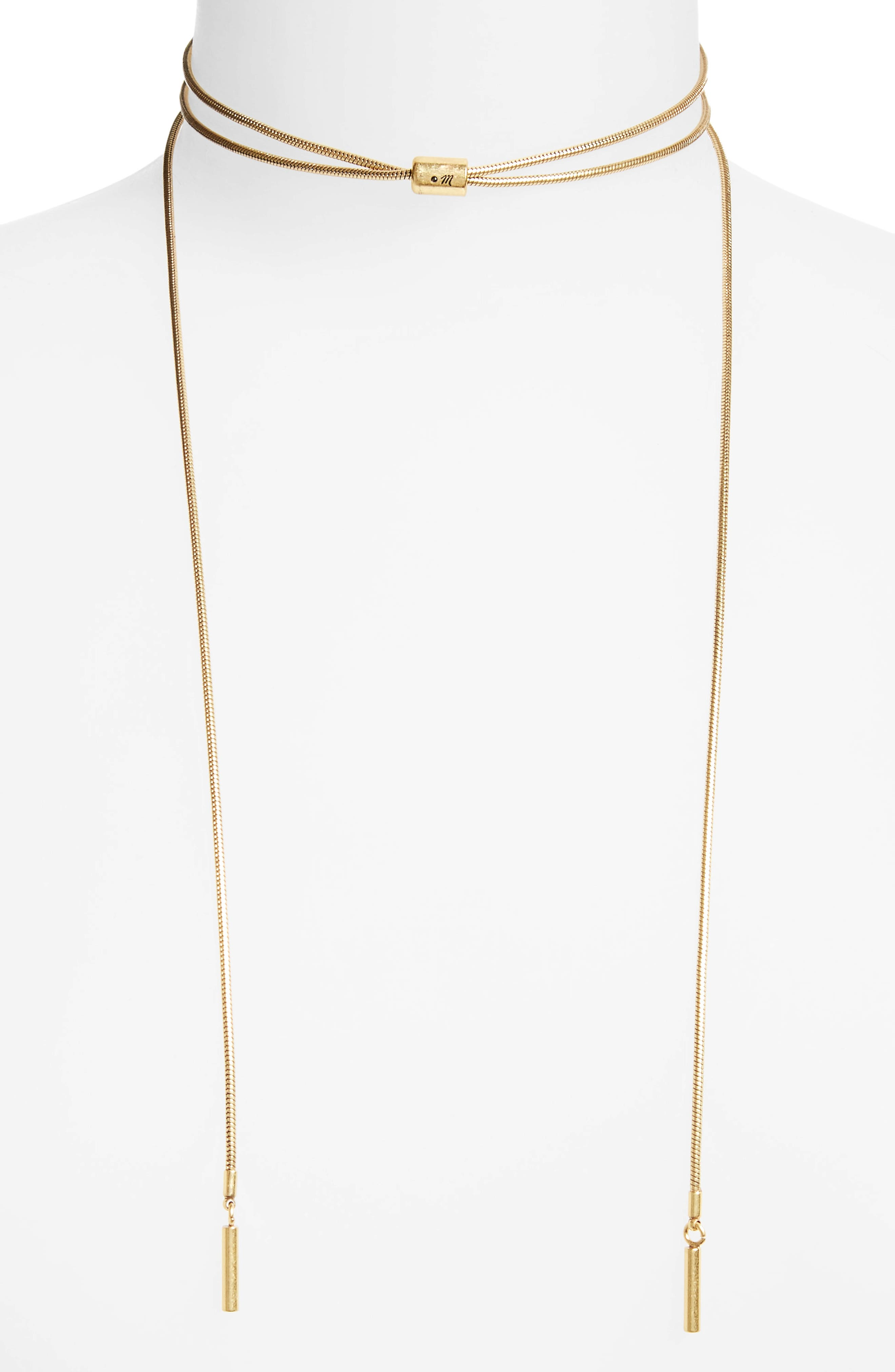 Madewell Bolo Wrap Necklace