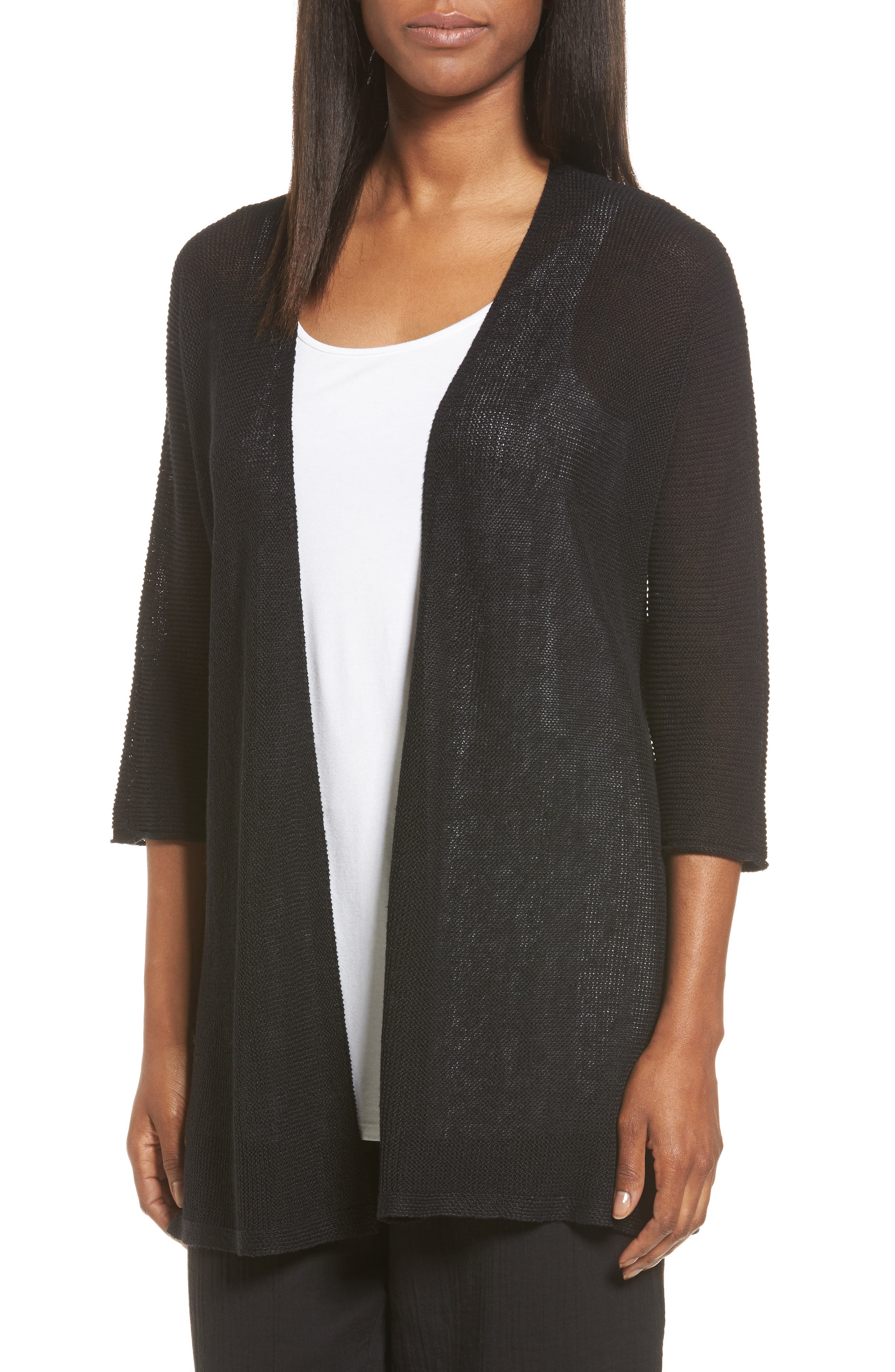 Eileen Fisher Organic Linen Kimono Cardigan (Regular & Petite)