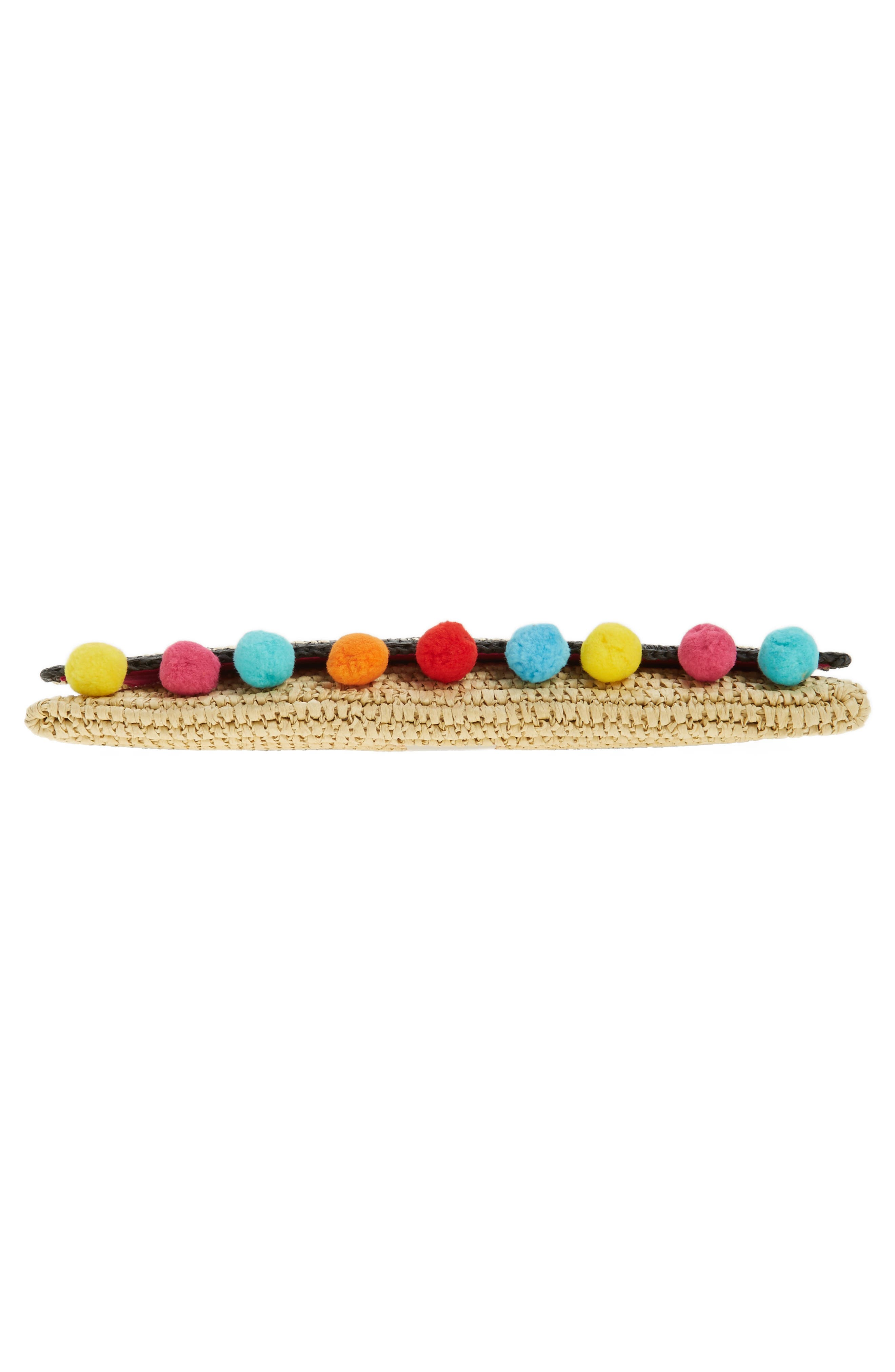 Alternate Image 5  - Rebecca Minkoff Beach Hair Pompom Straw Clutch