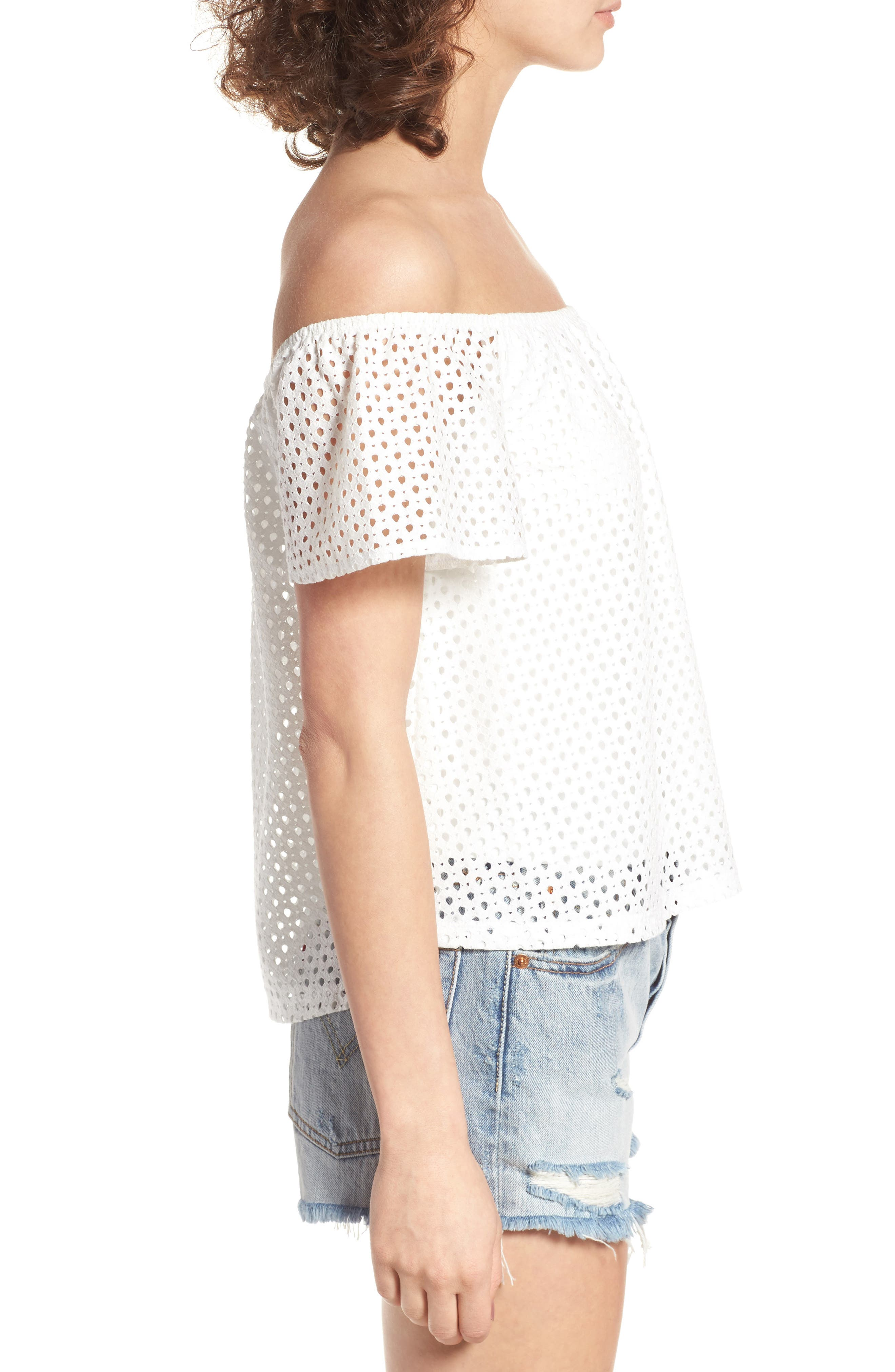 Alternate Image 4  - BP. Eyelet Off the Shoulder Top
