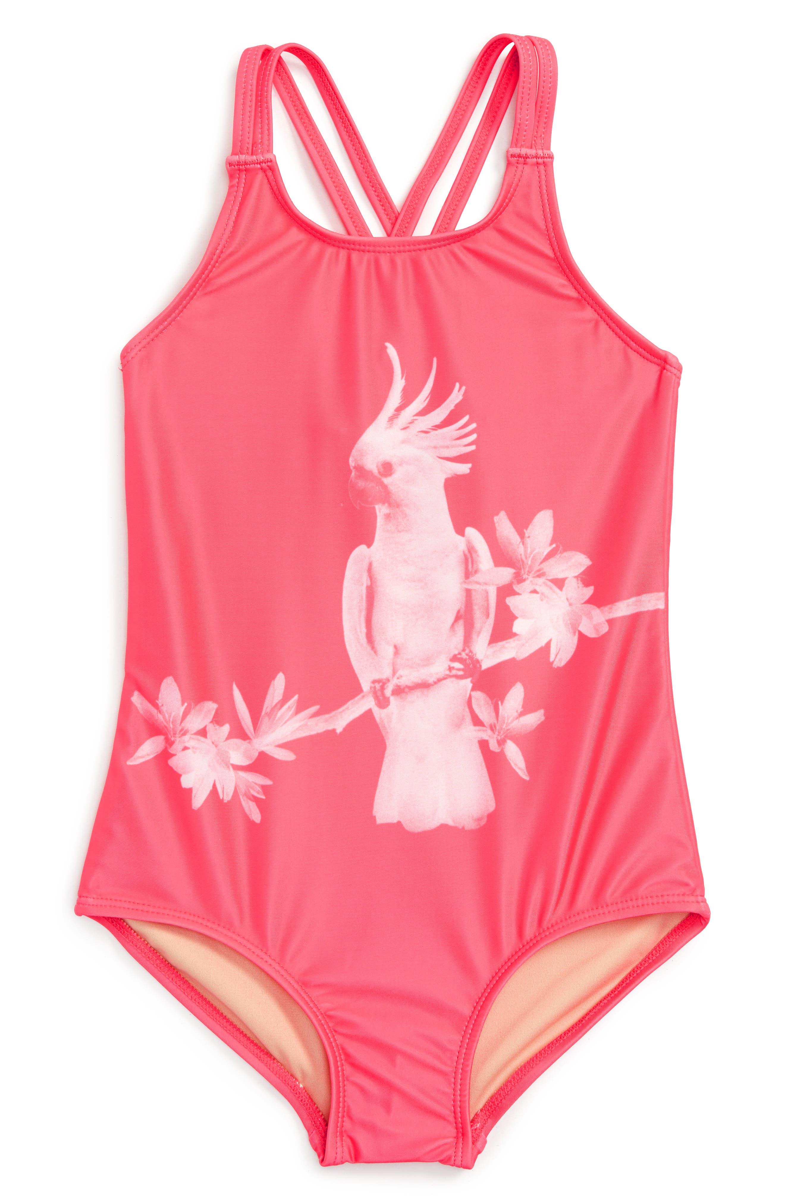 Tea Collection Galah One-Piece Swimsuit (Toddler Girls, Little Girls & Big Girls)