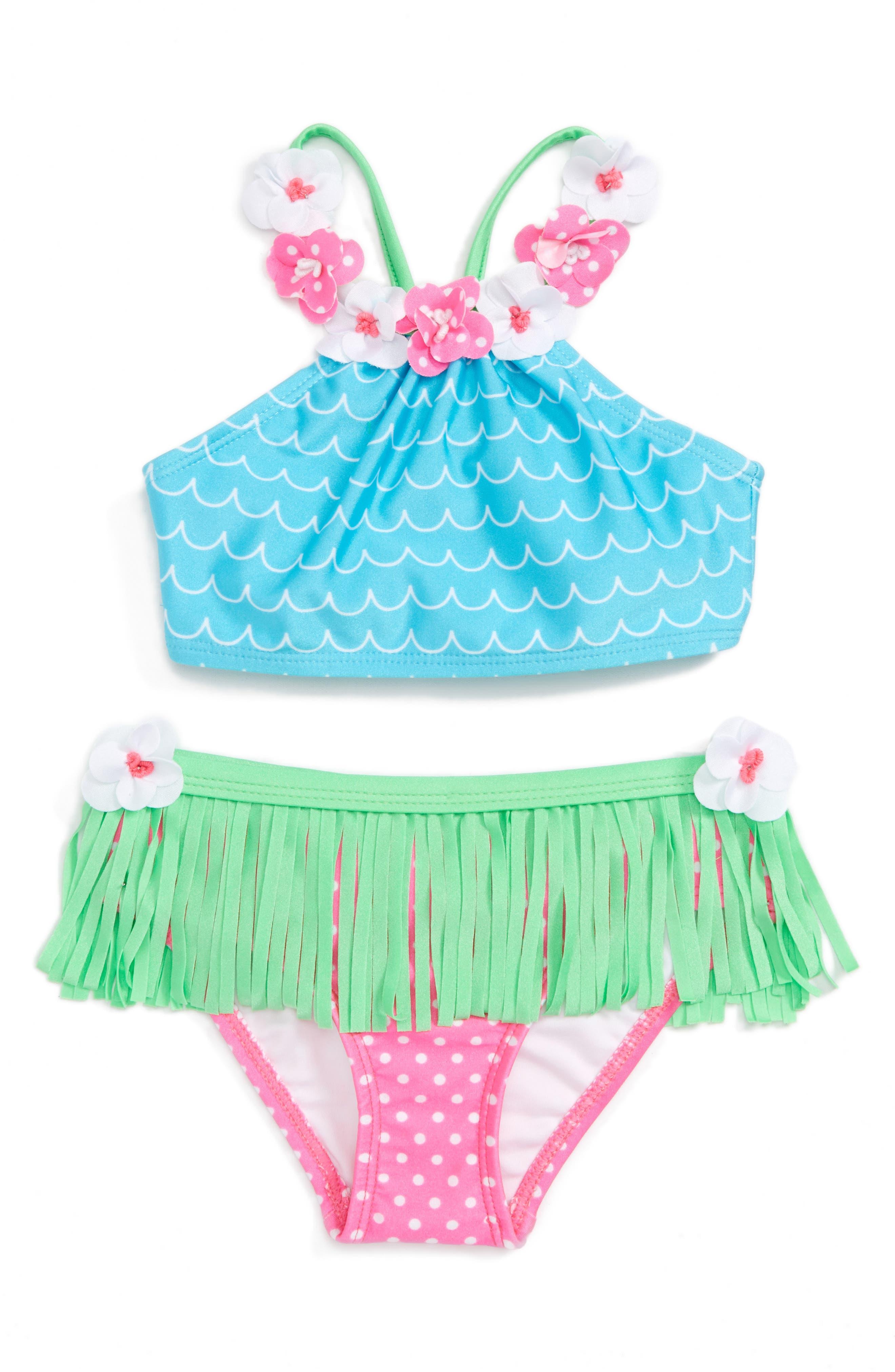 Love U Lots Hula Two-Piece Swimsuit (Toddler Girls & Little Girls)