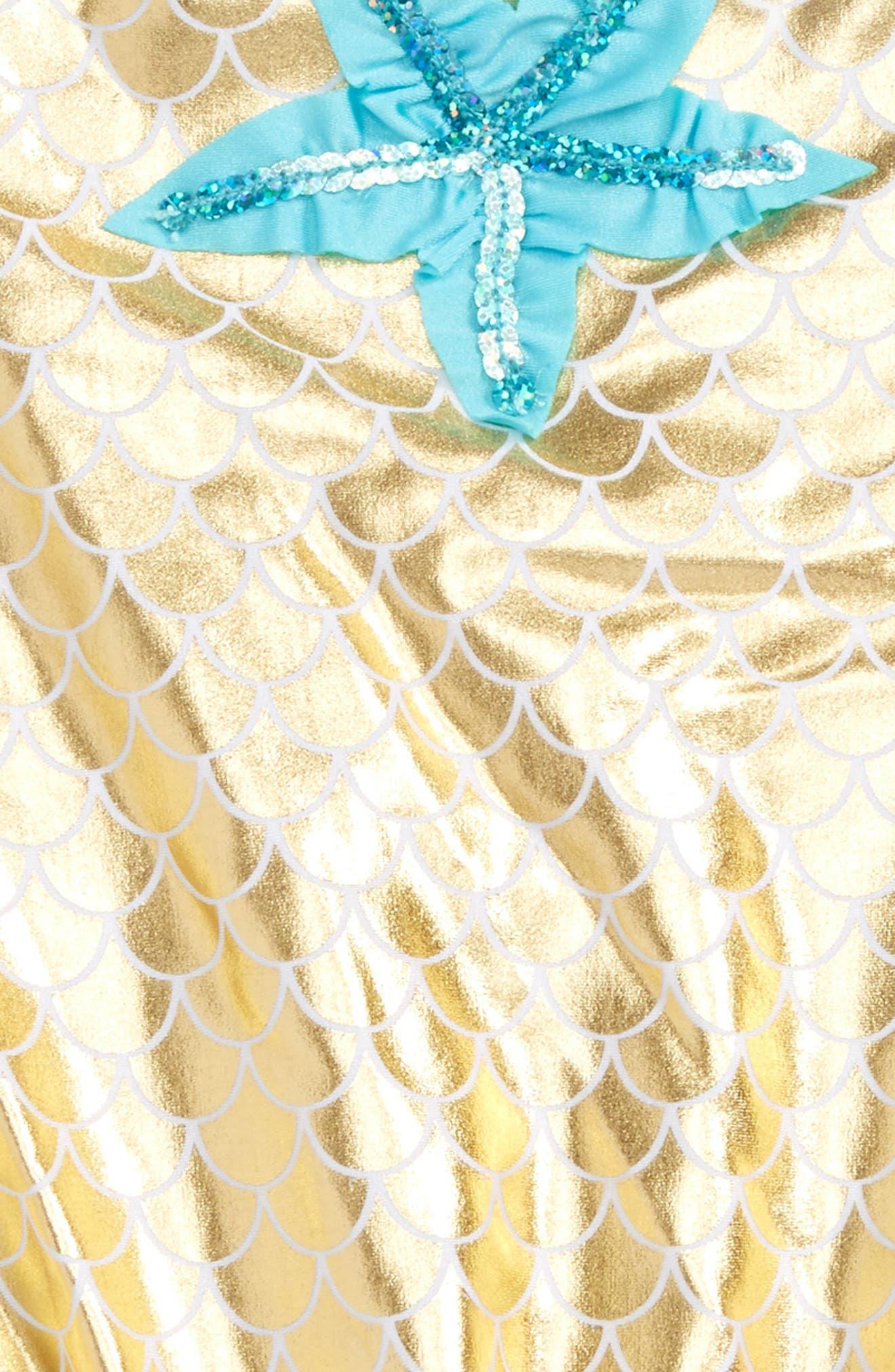 Alternate Image 2  - Love U Lots Starfish One-Piece Swimsuit (Toddler Girls & Little Girls)