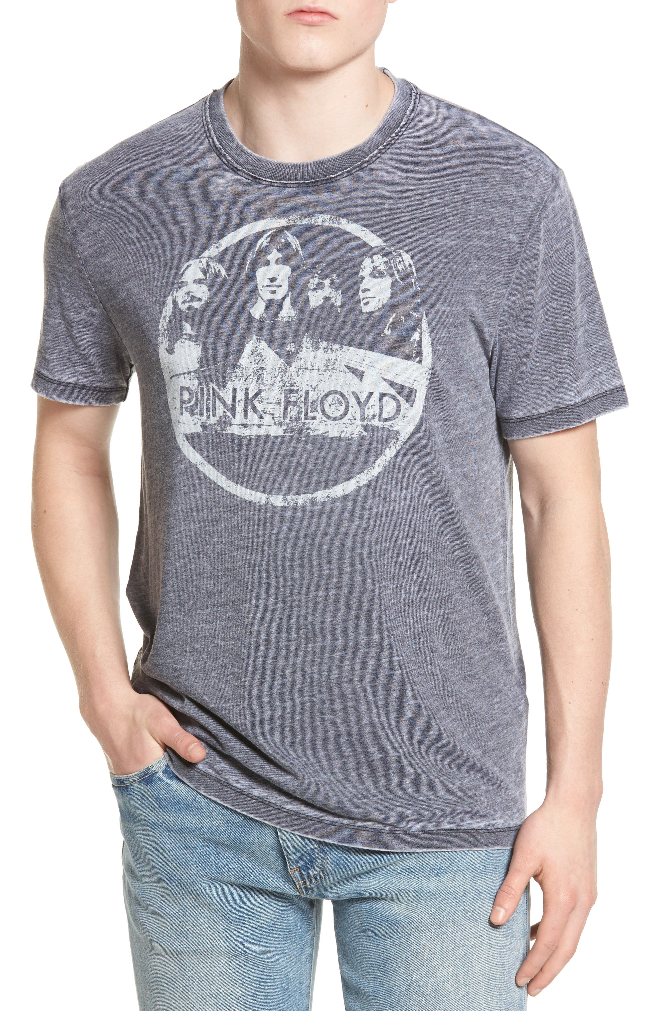 Lucky Brand Pink Floyd Graphic Burnout T-Shirt