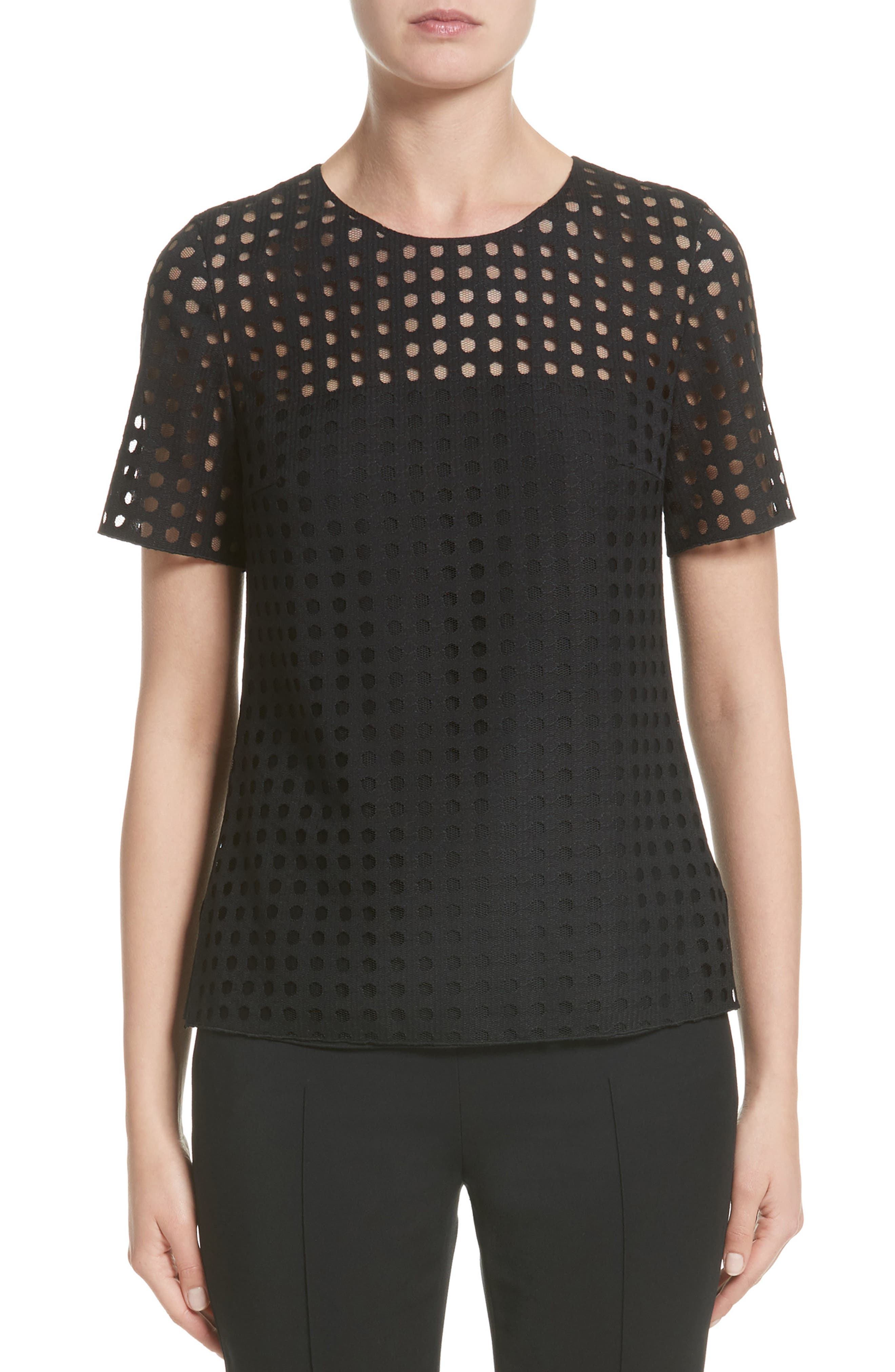 Akris punto Lace Blouse (Nordstrom Exclusive)