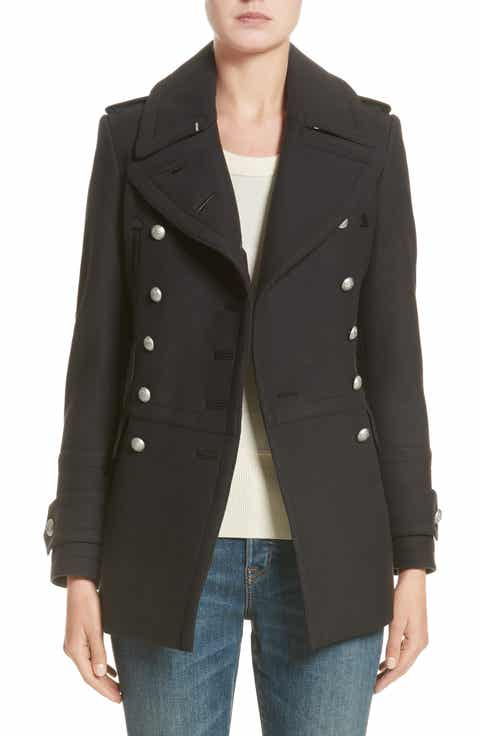Burberry Milbridgen Wool Blend Military Coat (Nordstrom Exclusive) - Peacoat Coats & Jackets For Women Nordstrom